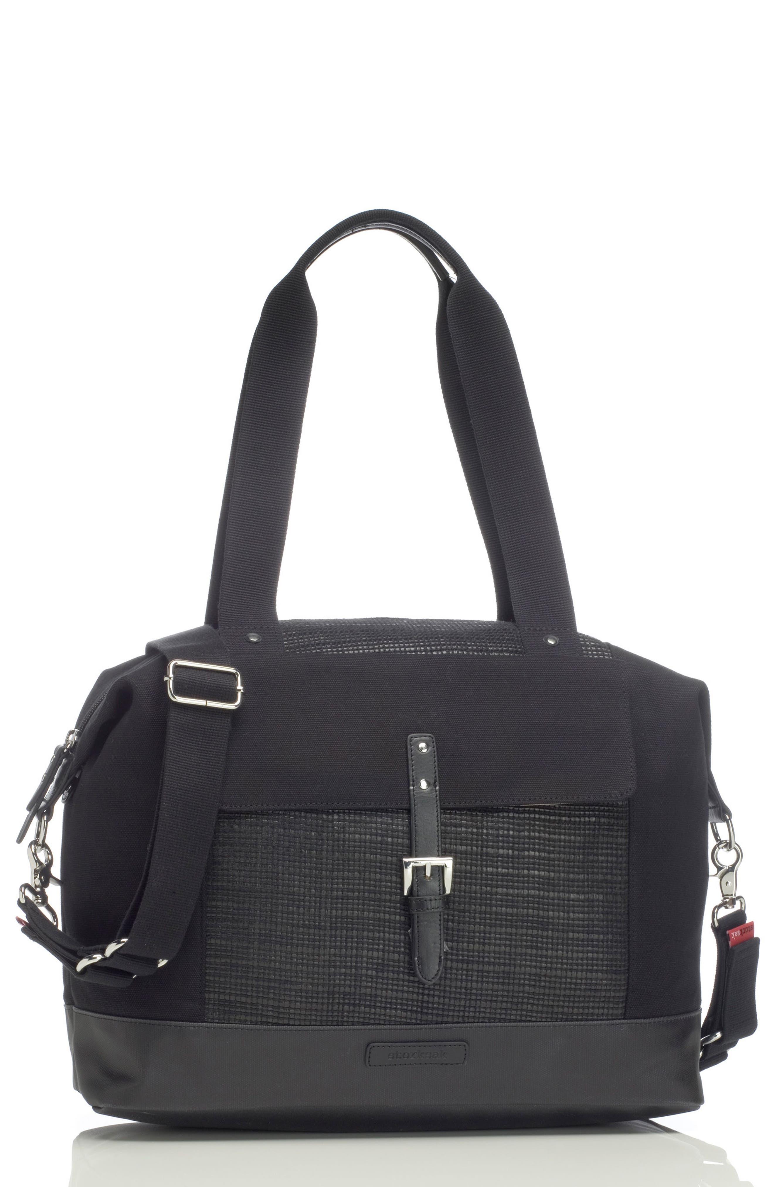 Jude Convertible Diaper Bag,                         Main,                         color, Black