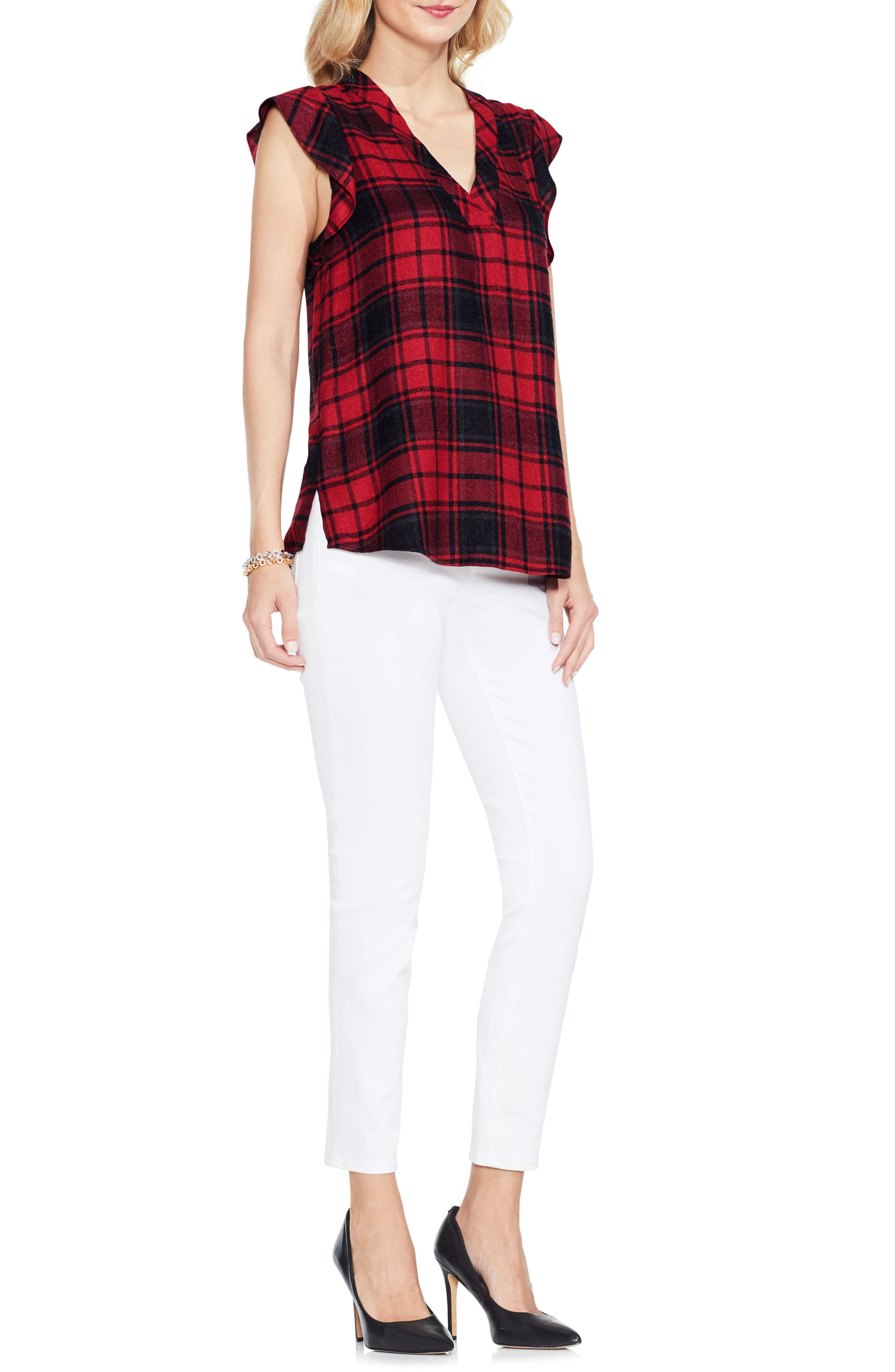 Alternate Image 2  - Two by Vince Camuto Plaid Blouse