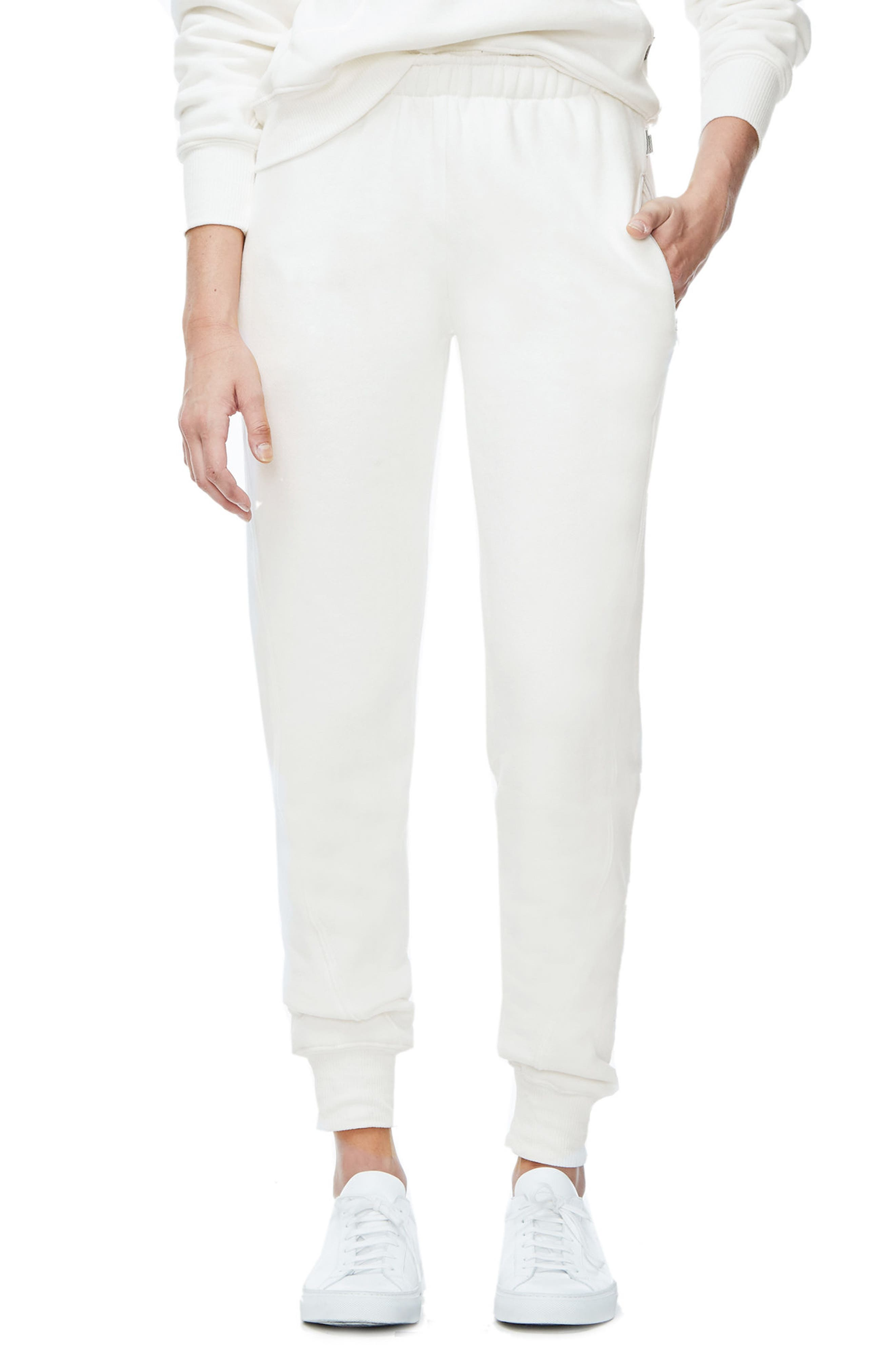 Good Sweats The Twisted Seam Pants,                             Alternate thumbnail 3, color,                             Off White