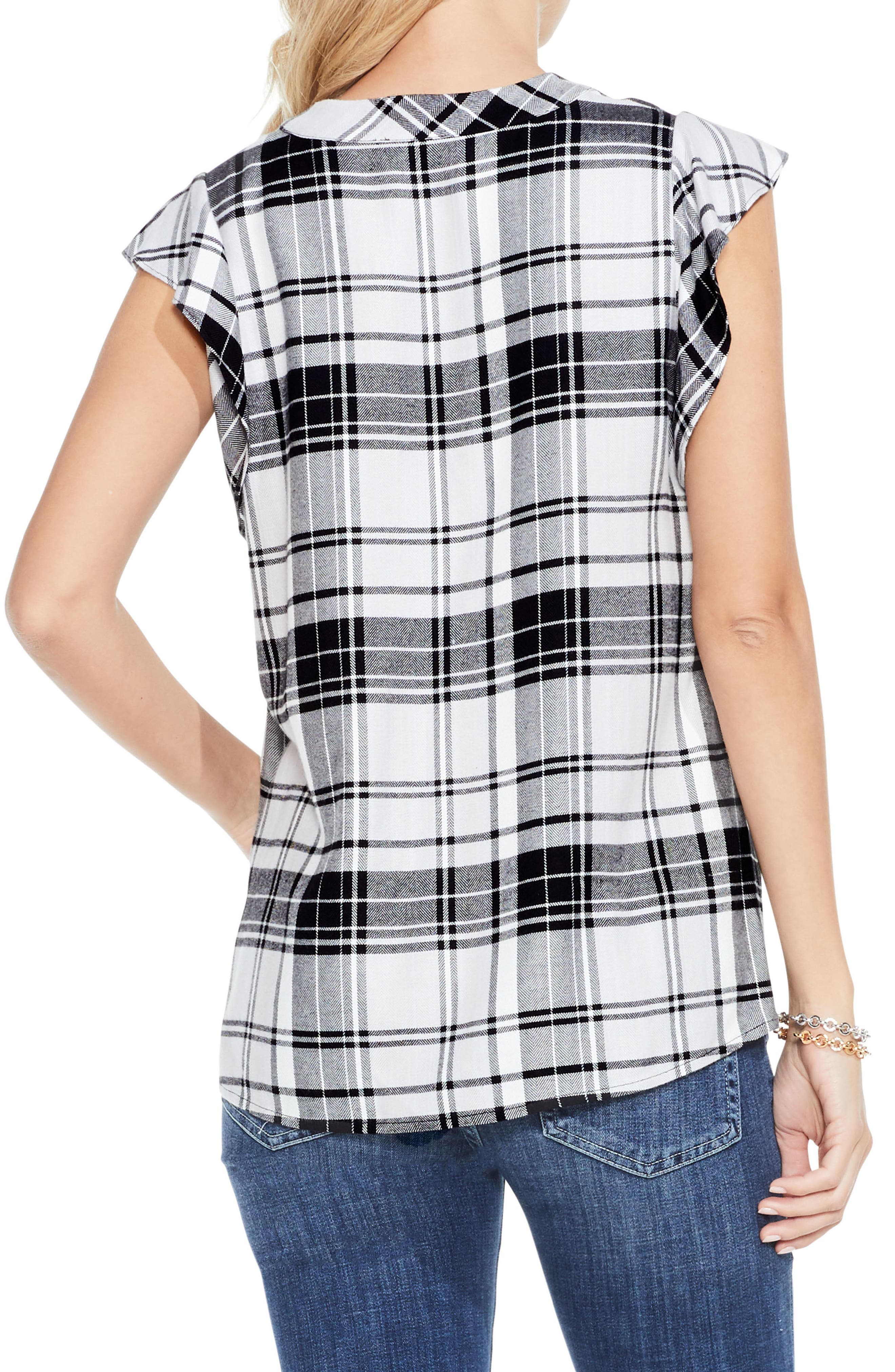 Alternate Image 3  - Two by Vince Camuto Bedford Plaid Top