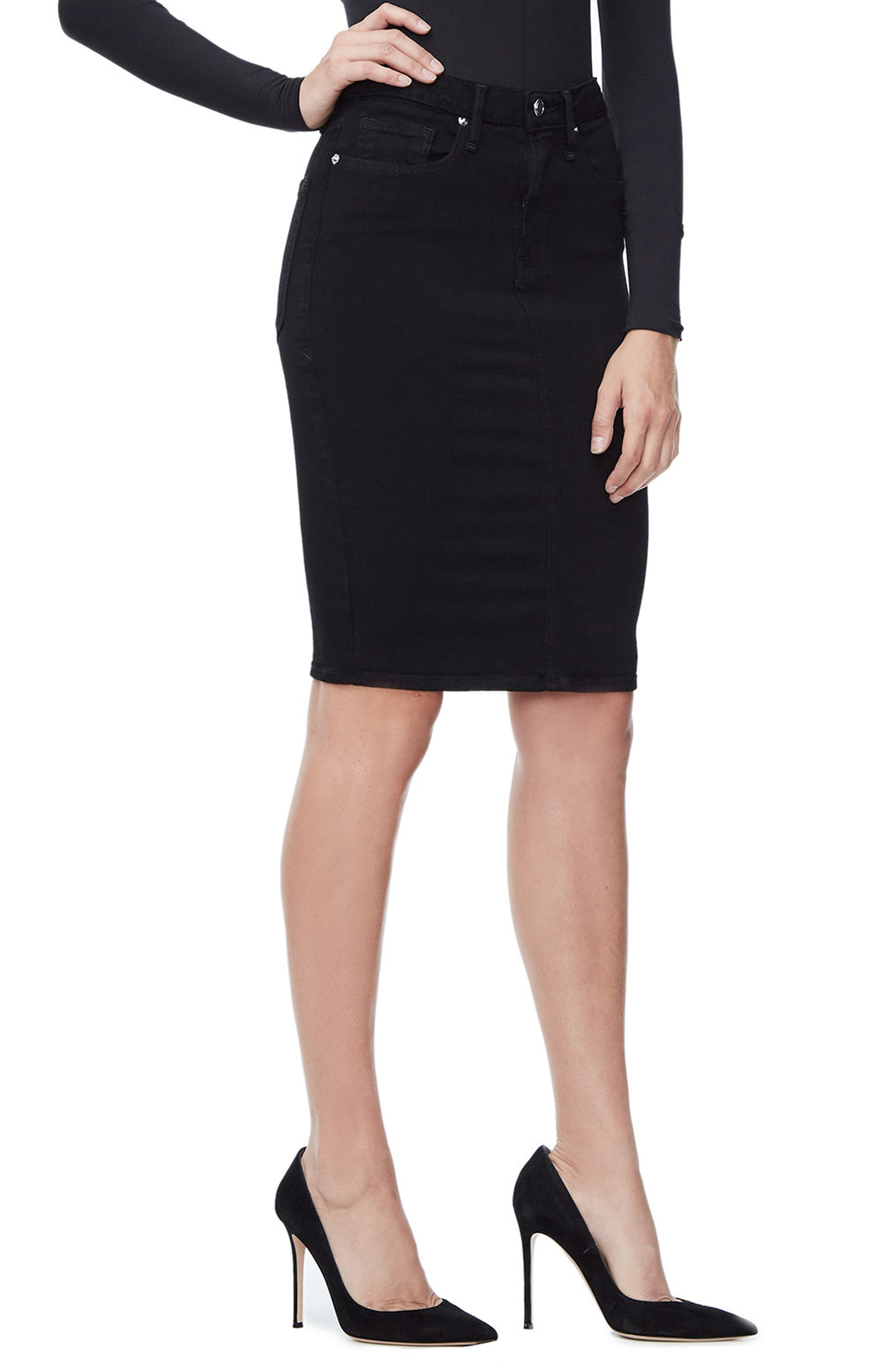 Alternate Image 4  - Good American The Pencil Skirt (Extended Sizes)