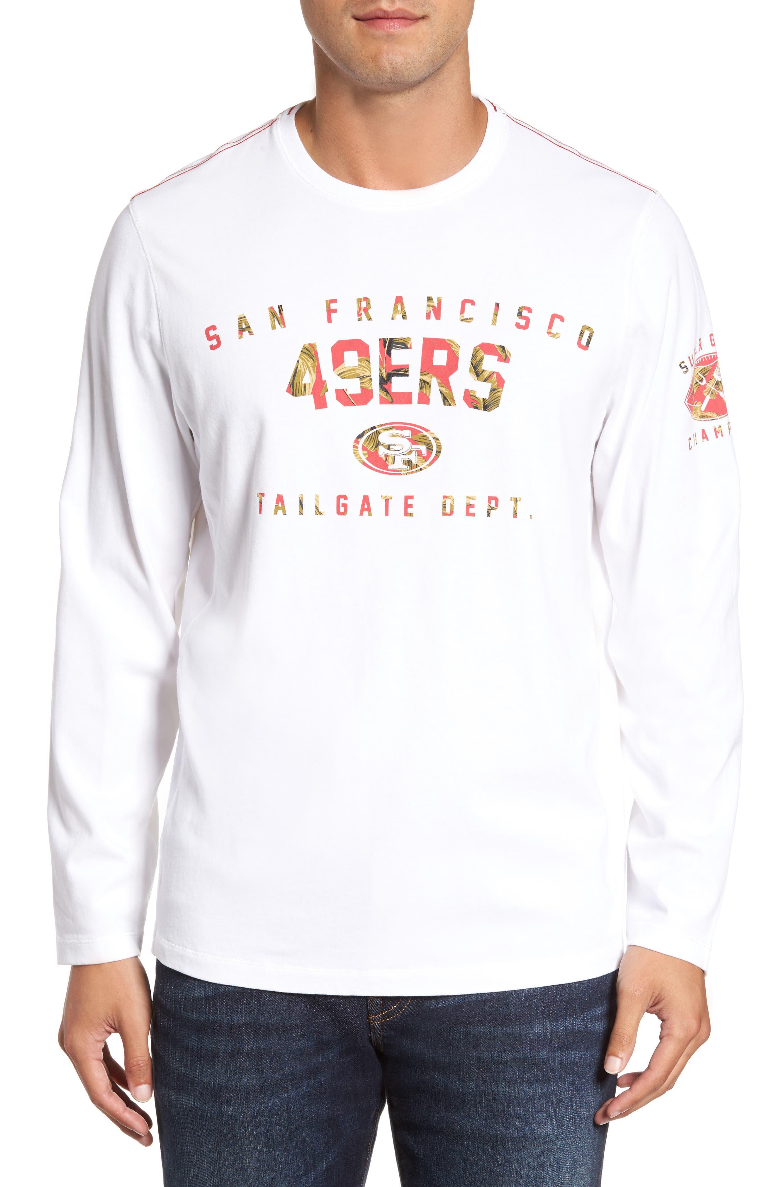 NFL Palm Action T-Shirt,                         Main,                         color, 49Ers
