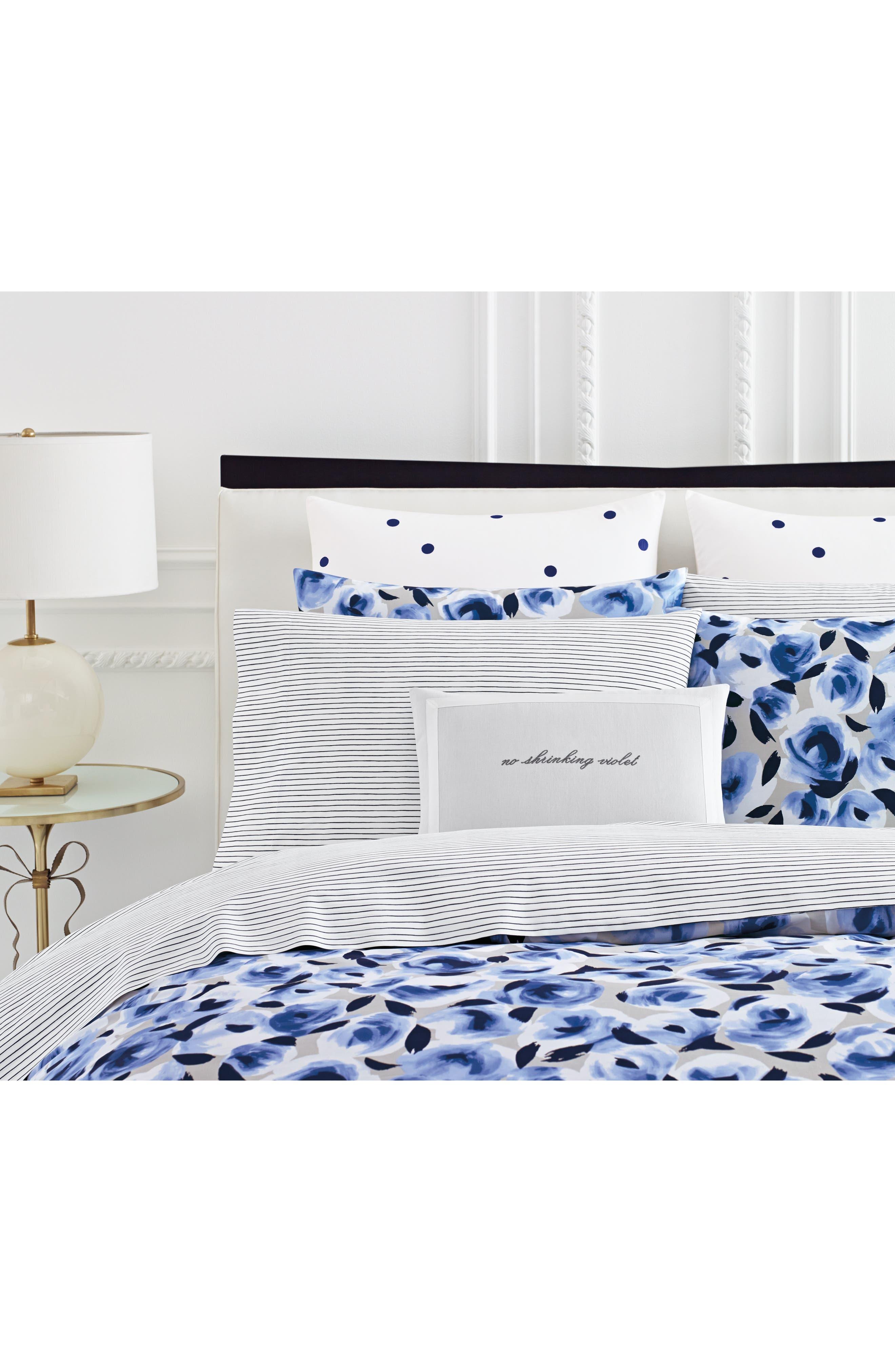 garden rose comforter & sham set,                             Alternate thumbnail 2, color,                             Navy