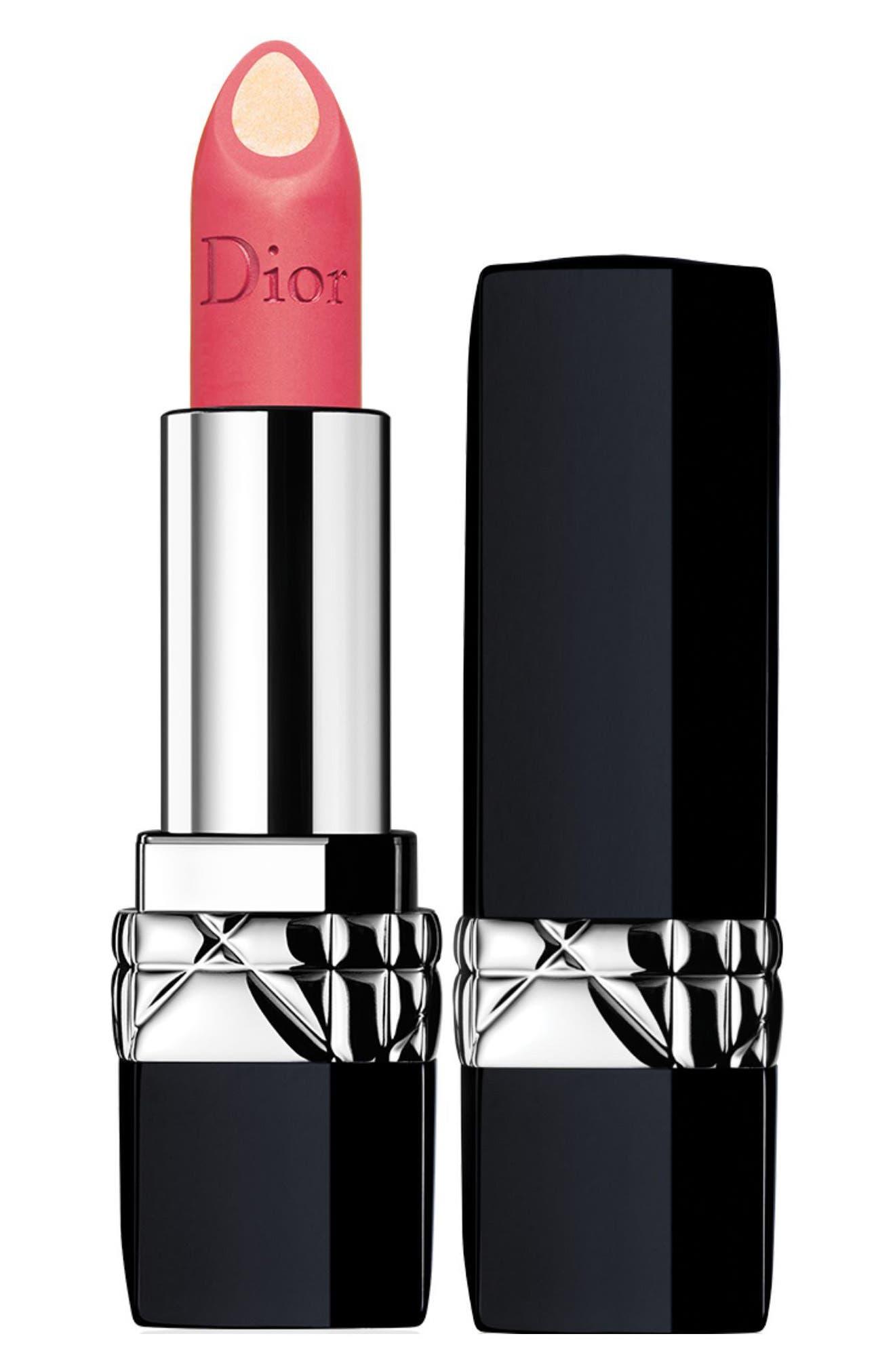 Rouge Dior Double Rouge Matte Metal Colour & Couture Contour Lipstick,                             Main thumbnail 1, color,                             288 Miss Crush