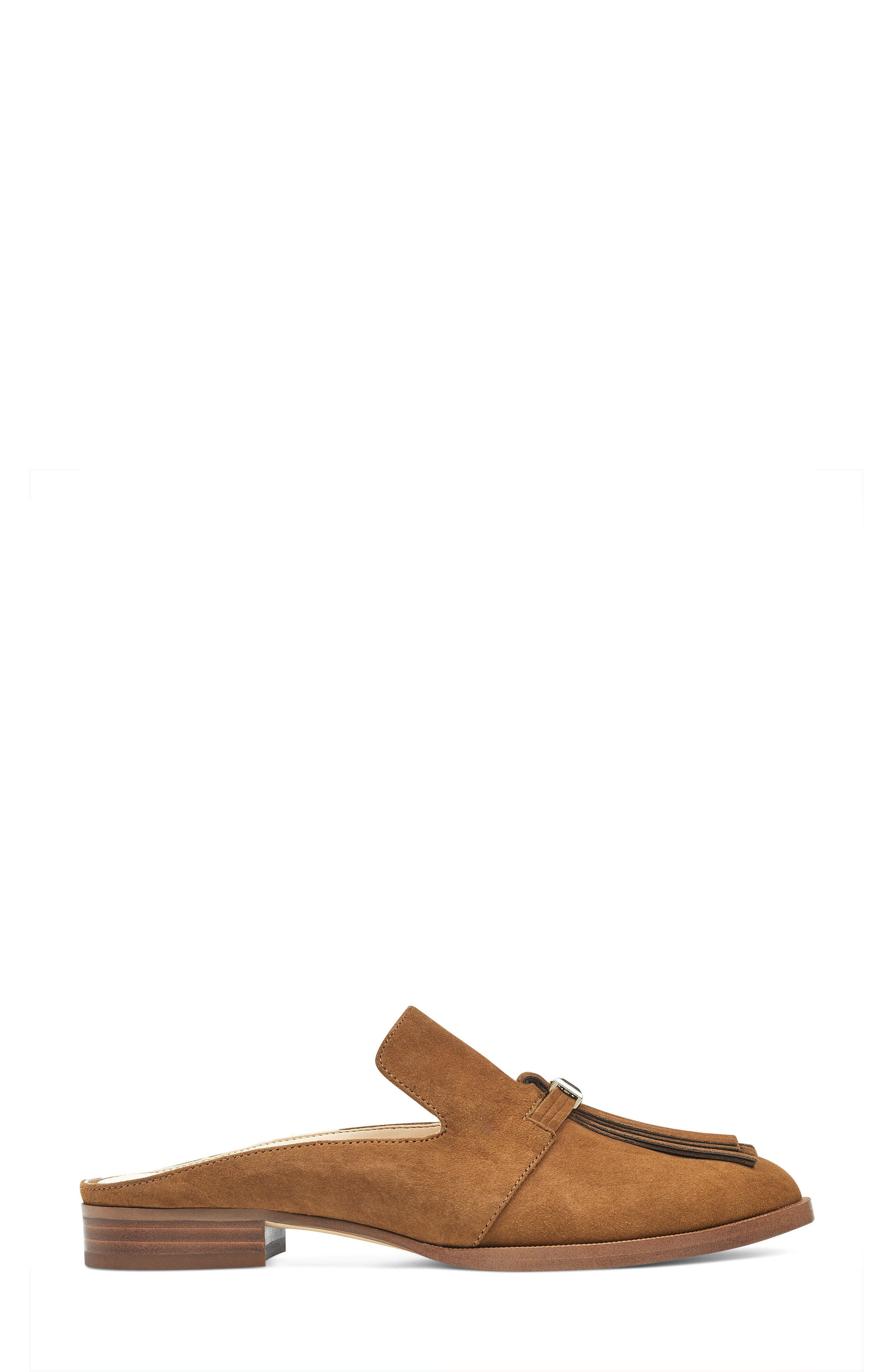 Huebart Loafer Mule,                             Alternate thumbnail 3, color,                             Brown Suede