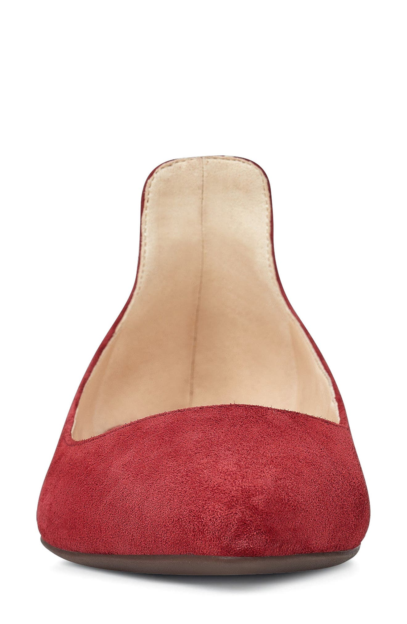 Owl Skimmer Flat,                             Alternate thumbnail 4, color,                             Red Suede