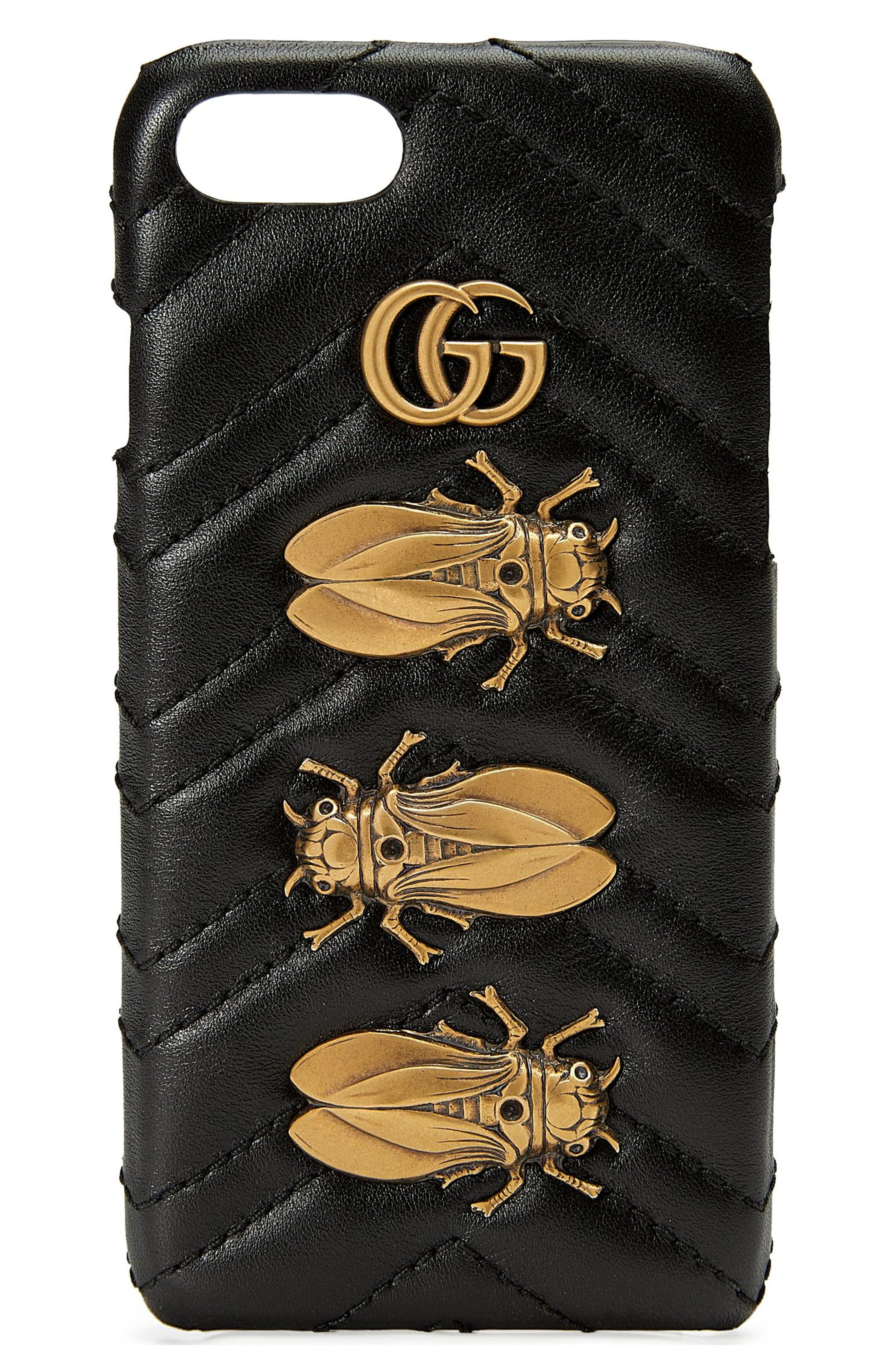 gucci iphone 7 case. main image - gucci gg marmont 2.0 matelassé leather iphone 7 case iphone