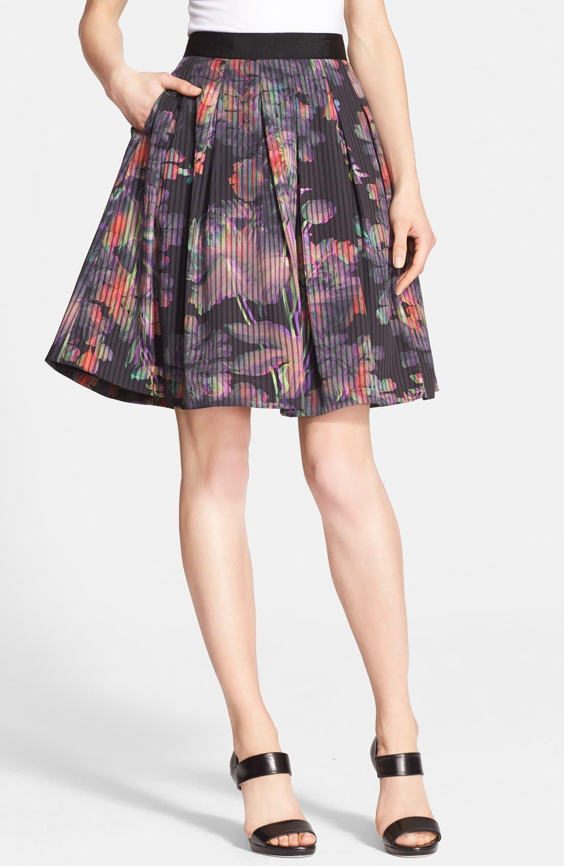 Main Image - Ted Baker London 'Jadzia Holographic Halftone' Print A-Line Skirt