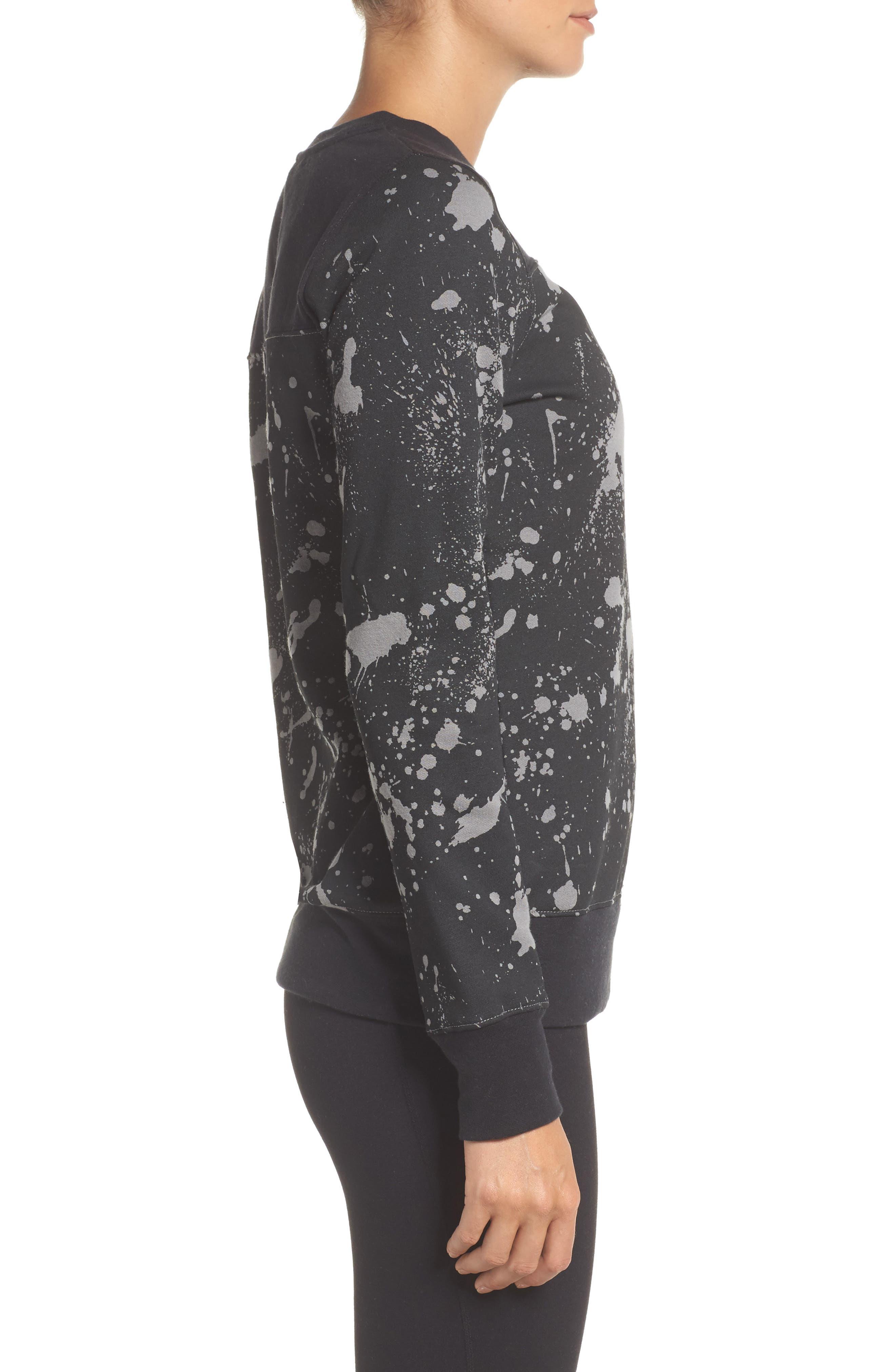Half Dome Sweatshirt,                             Alternate thumbnail 3, color,                             Tnf Black Splatter Print