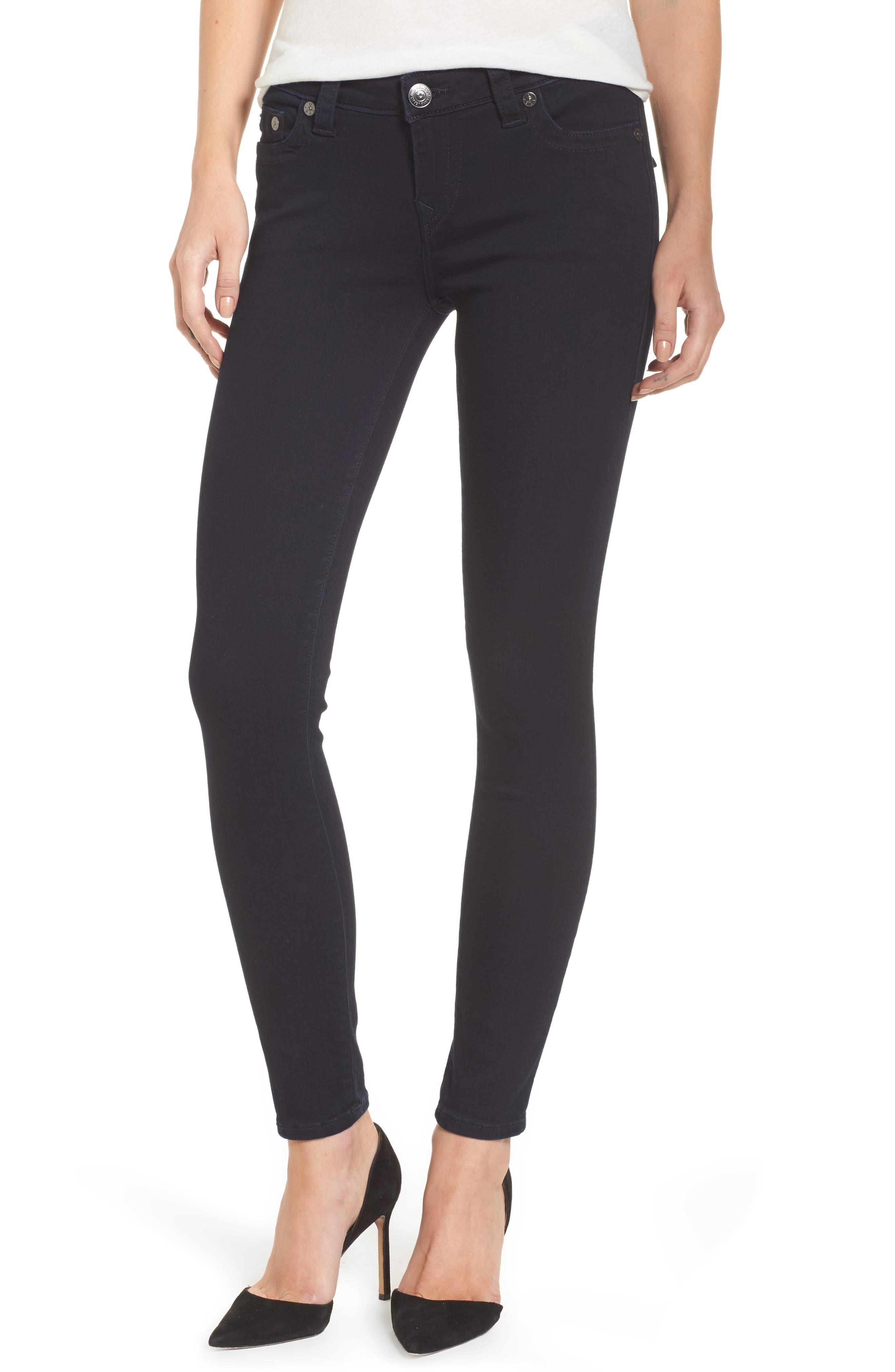 True Religion Brand Jeans Casey Flap Pocket Skinny Jeans (Indigo Origin)