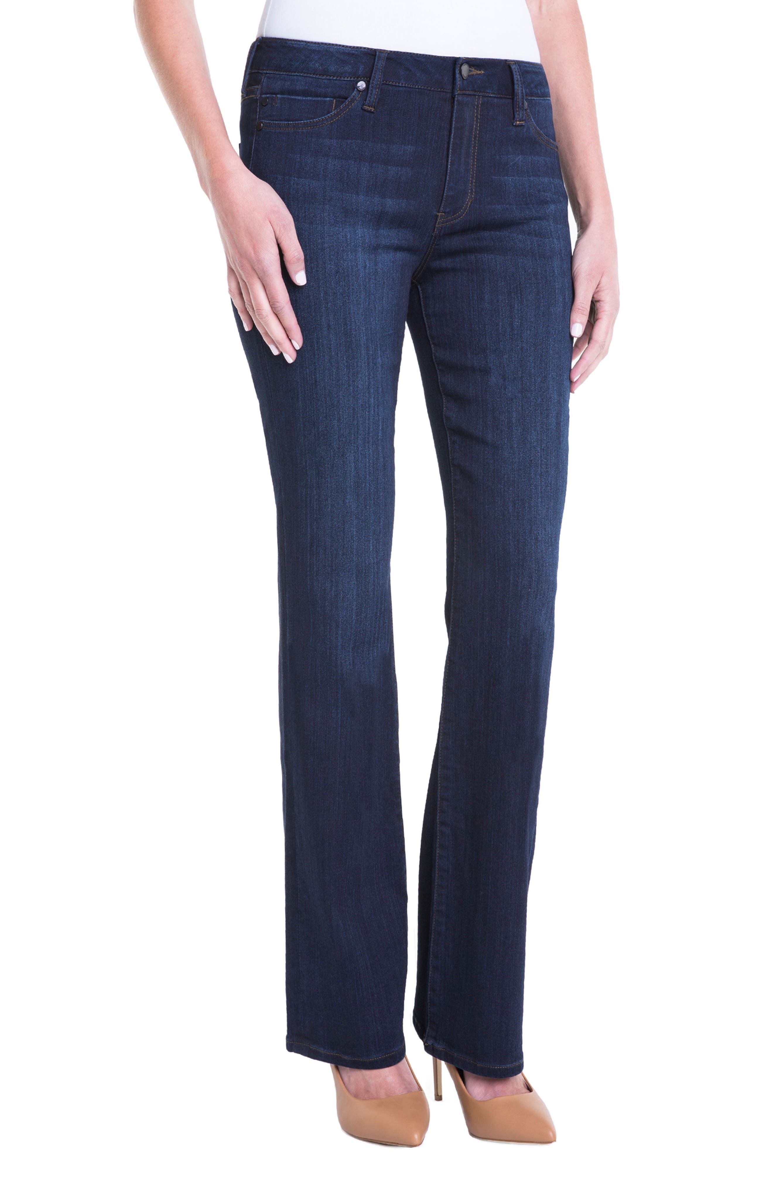 Lucy Bootcut Jeans,                             Alternate thumbnail 4, color,                             Dunmore Dark