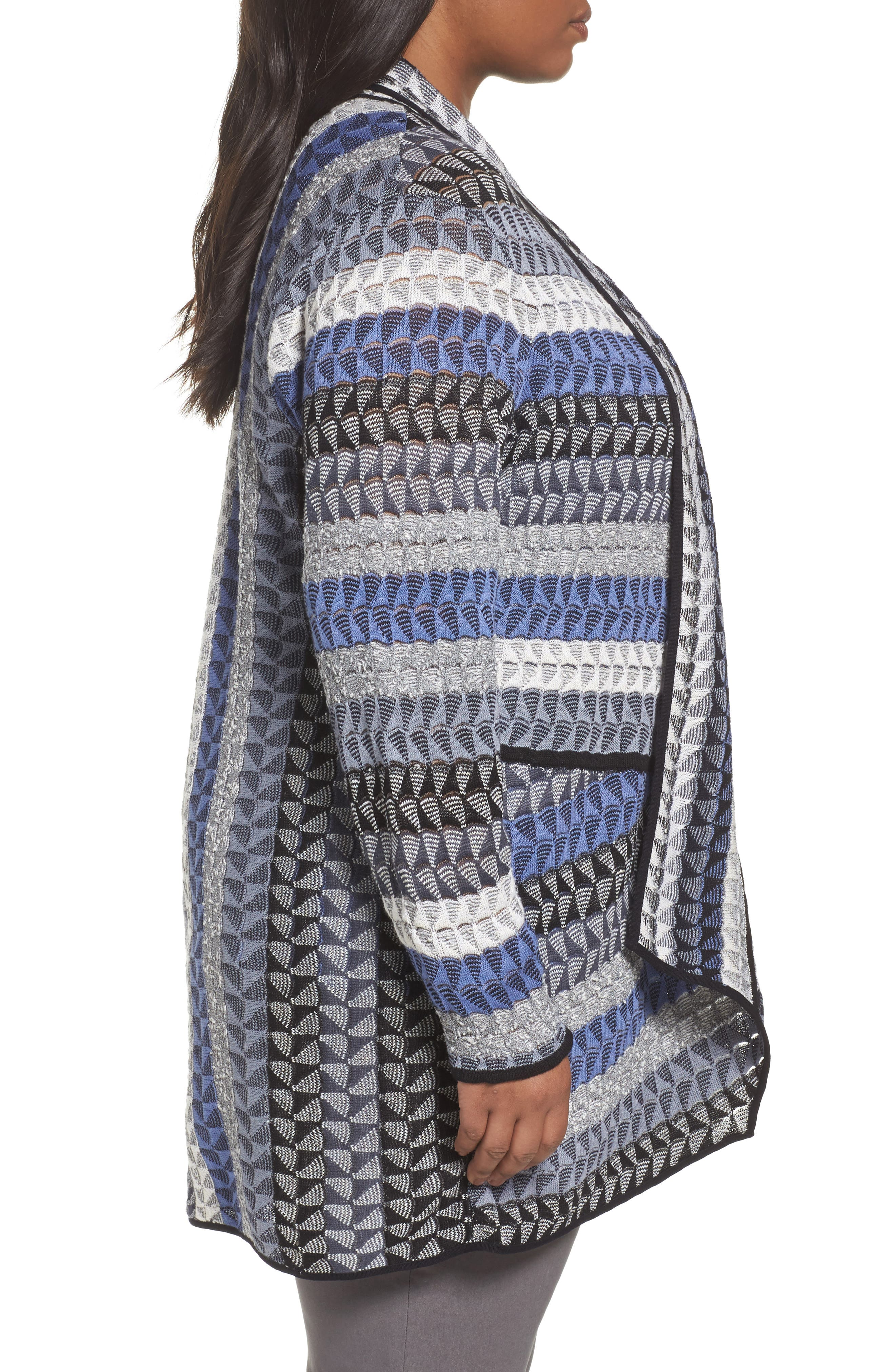 Alternate Image 3  - NIC+ZOE Triangle Bliss Cardigan (Plus Size)