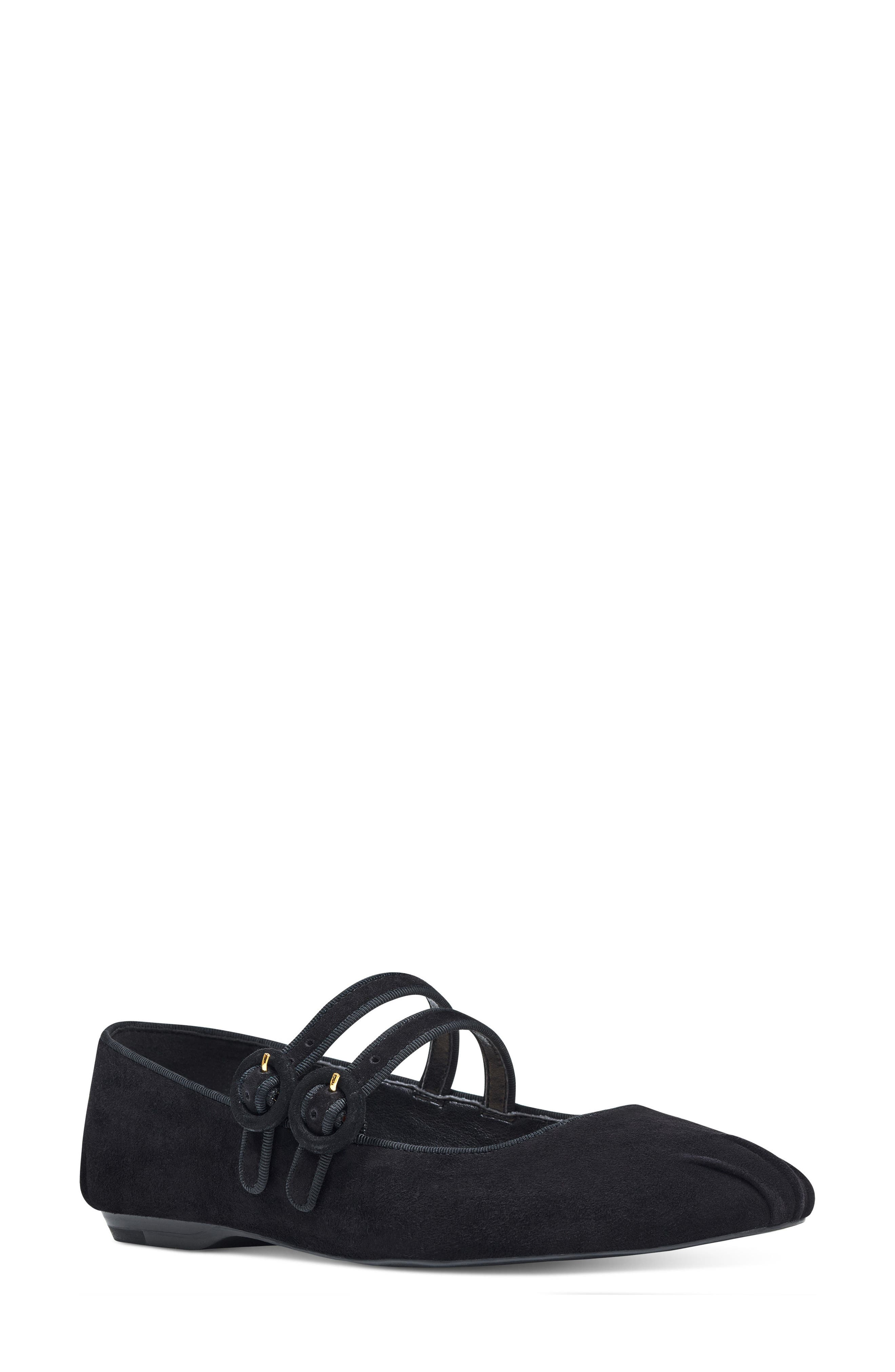 Xrye Flat,                         Main,                         color, Black Suede