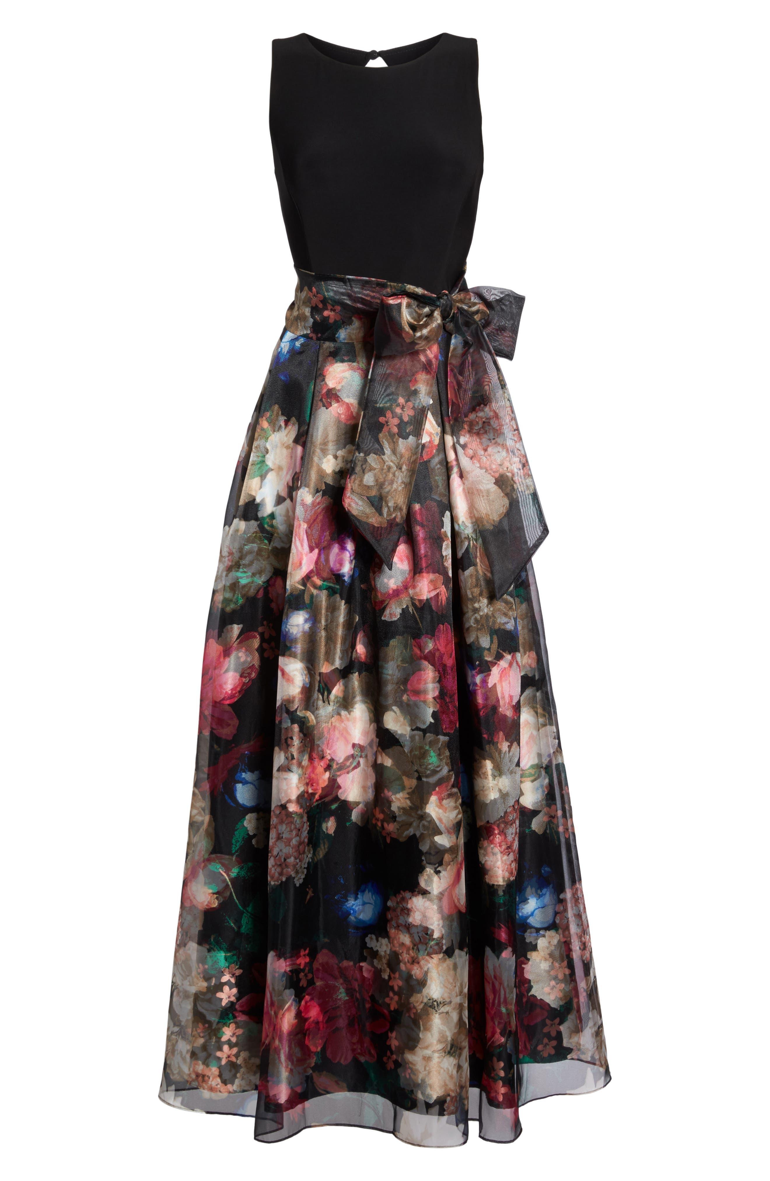 Alternate Image 6  - Eliza J Jersey & Organza Gown