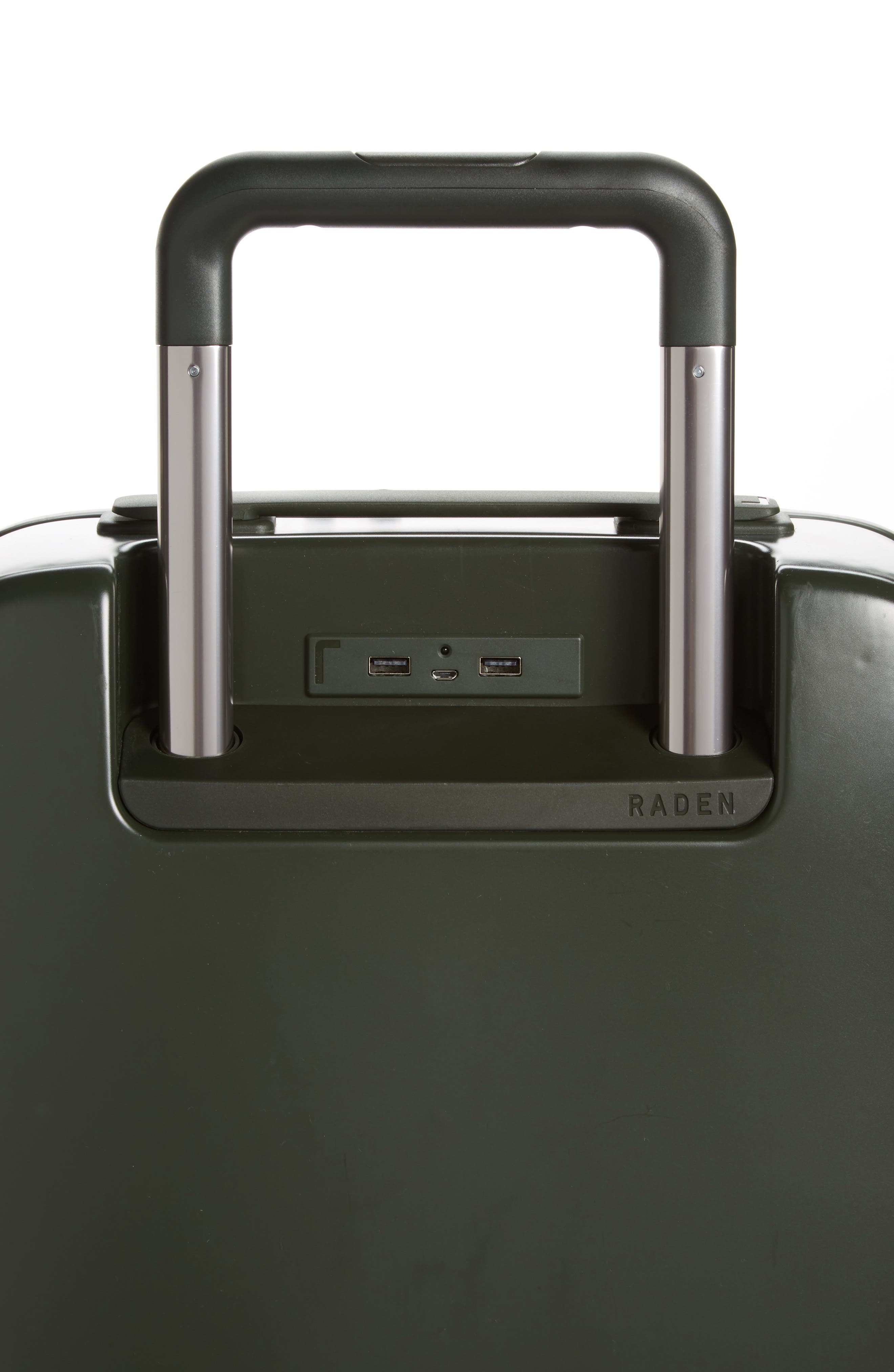 The A50 28-Inch & 22-Inch 2-Piece Luggage Set,                             Alternate thumbnail 5, color,                             Hunter Green Matte