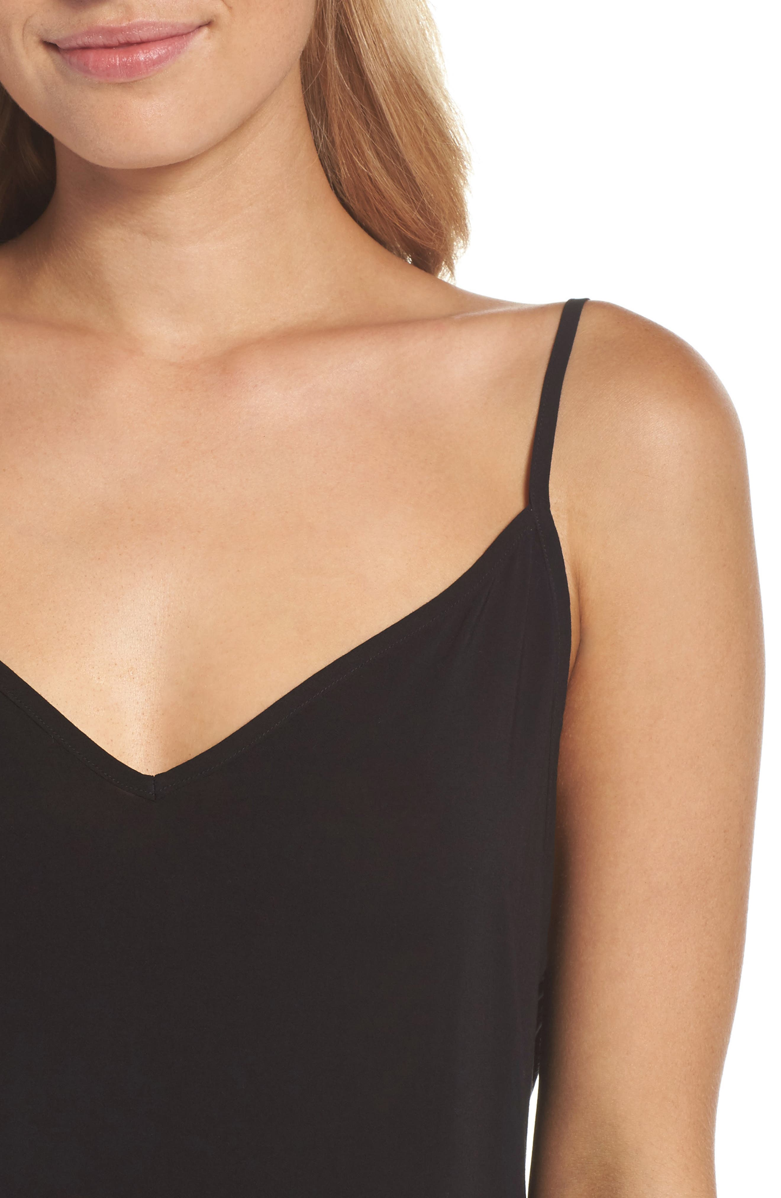 V-Neck Chemise,                             Alternate thumbnail 5, color,                             Tar