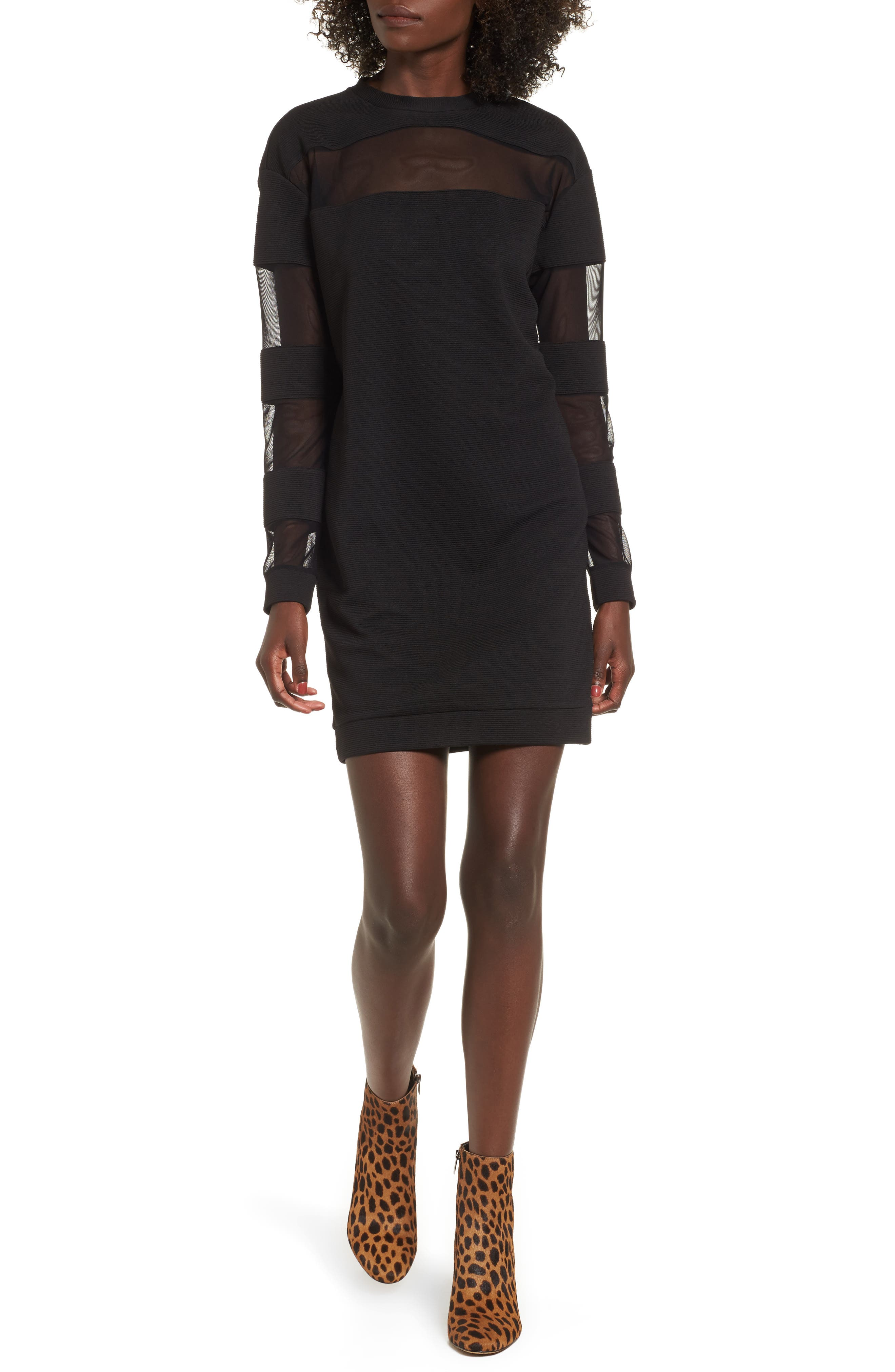 Disy Shift Dress,                         Main,                         color, Black