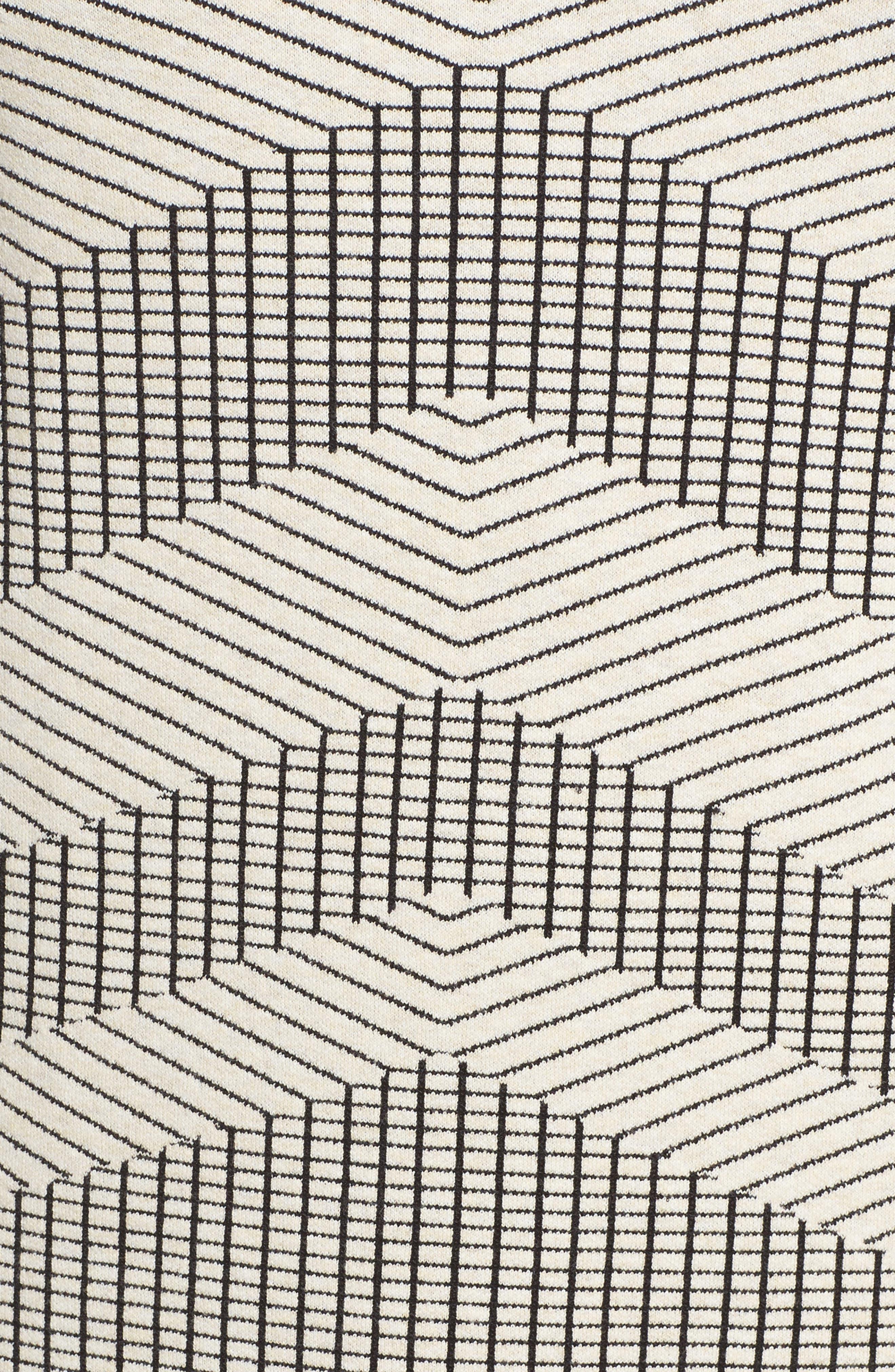 Mantra Chevron Stripe Knit Sheath Dress,                             Alternate thumbnail 5, color,                             Creme Brulee