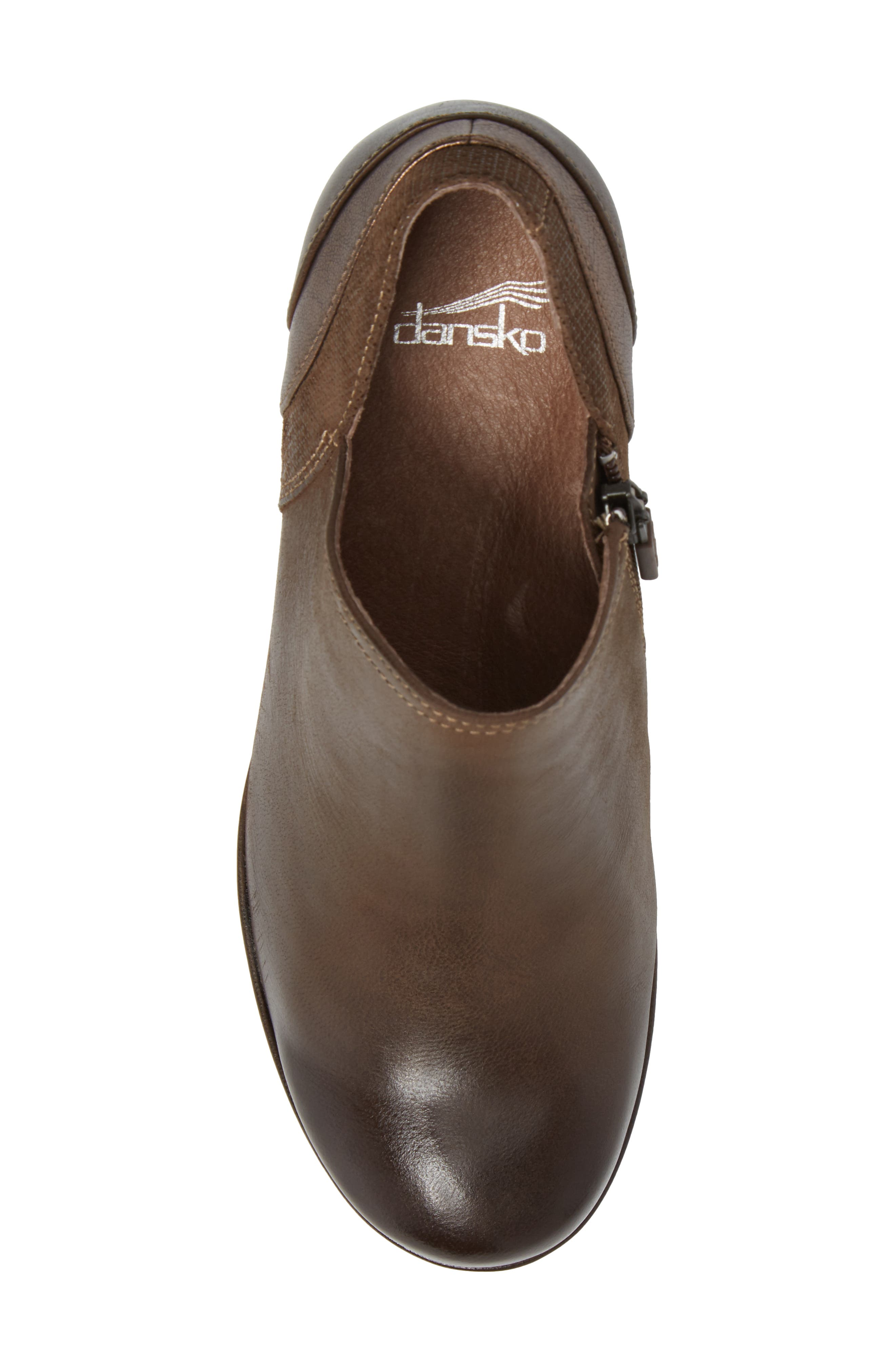 Marcia Bootie,                             Alternate thumbnail 5, color,                             Teak Burinished Leather
