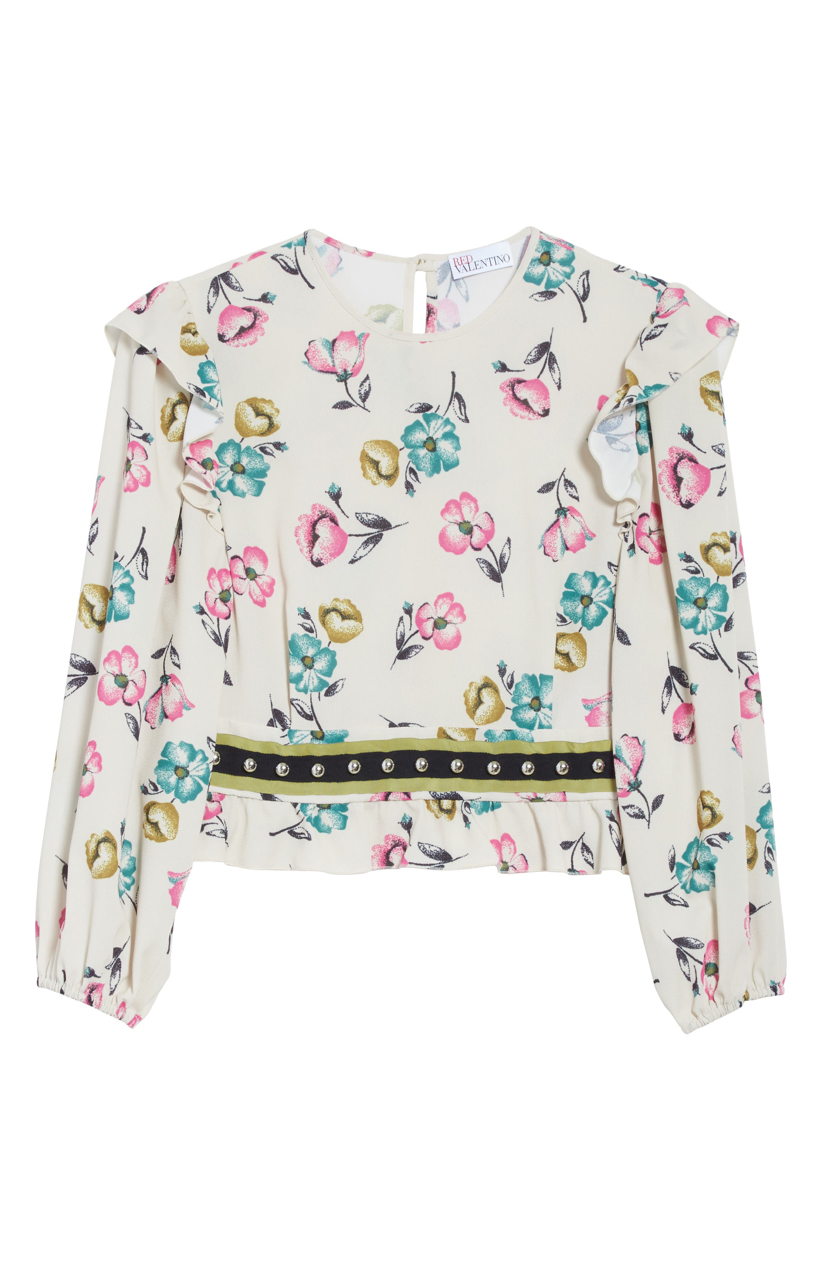 Alternate Image 6  - RED Valentino Anemone Floral Print Blouse