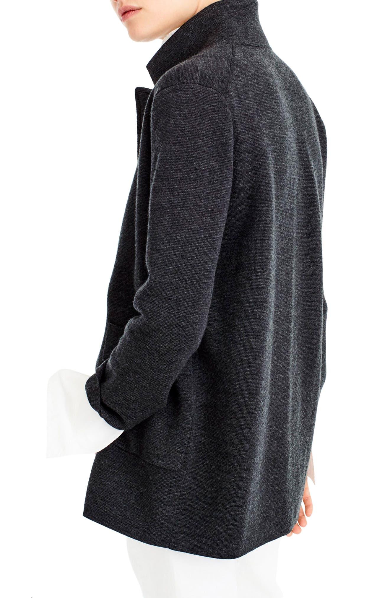 Open Front Sweater Blazer,                             Alternate thumbnail 2, color,                             Heather Coal