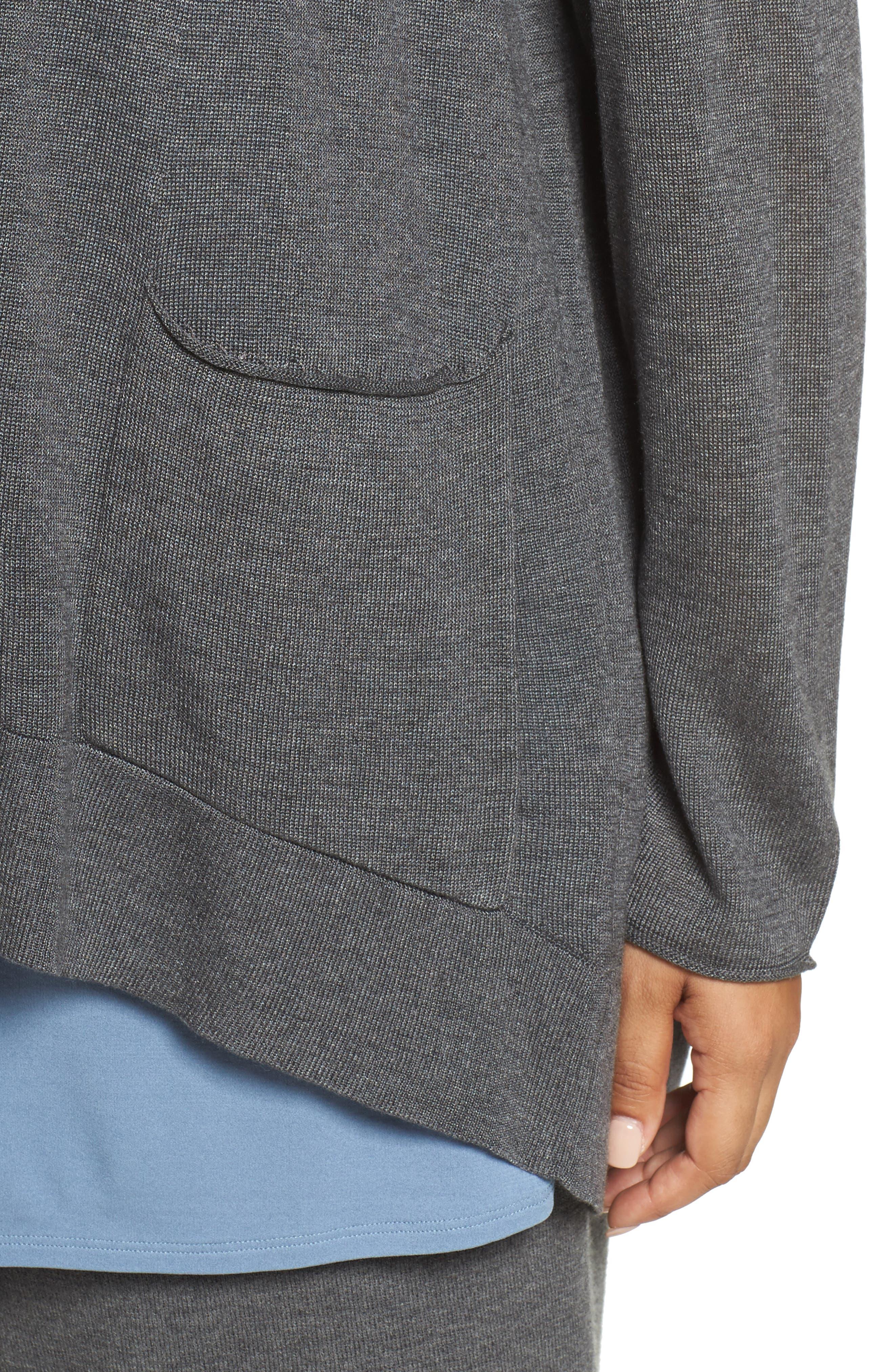 Alternate Image 4  - Eileen Fisher Slouchy Tencel® Blend Cardigan (Plus Size)