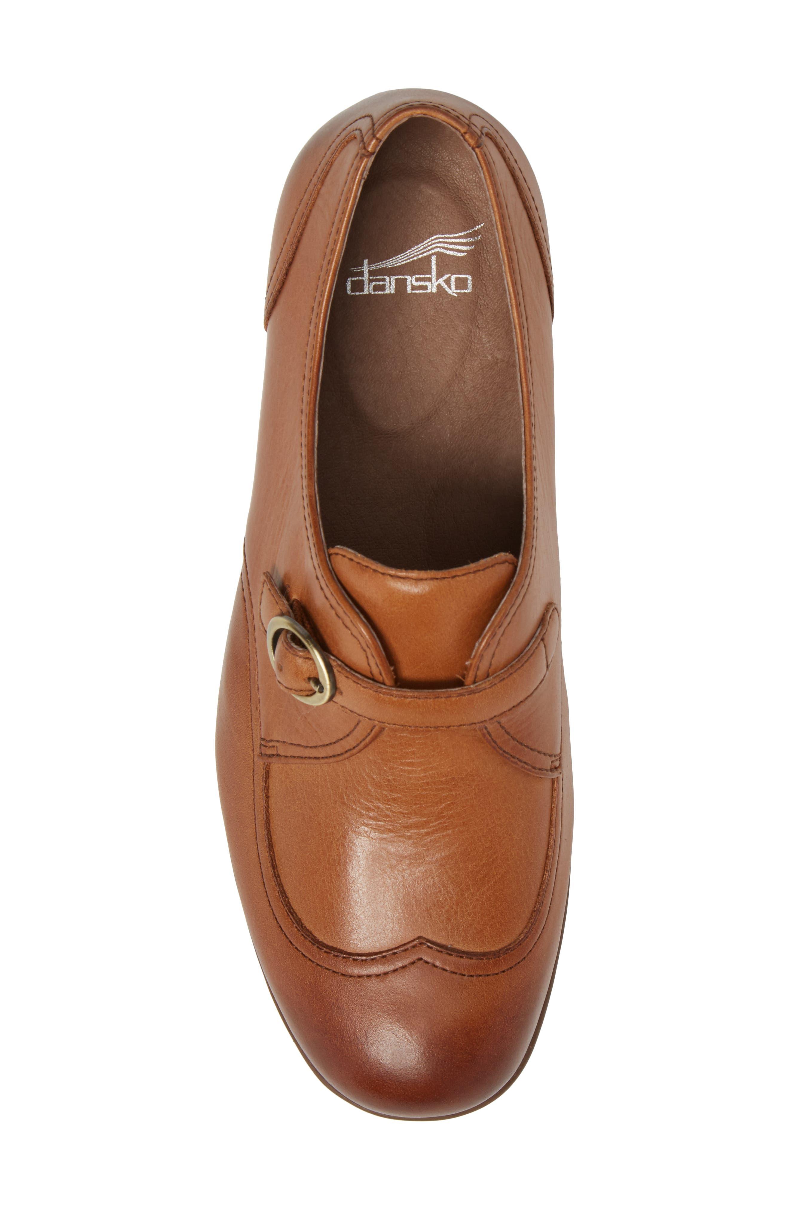 Livie Wingtip Oxford,                             Alternate thumbnail 5, color,                             Saddle Burnished Nappa Leather
