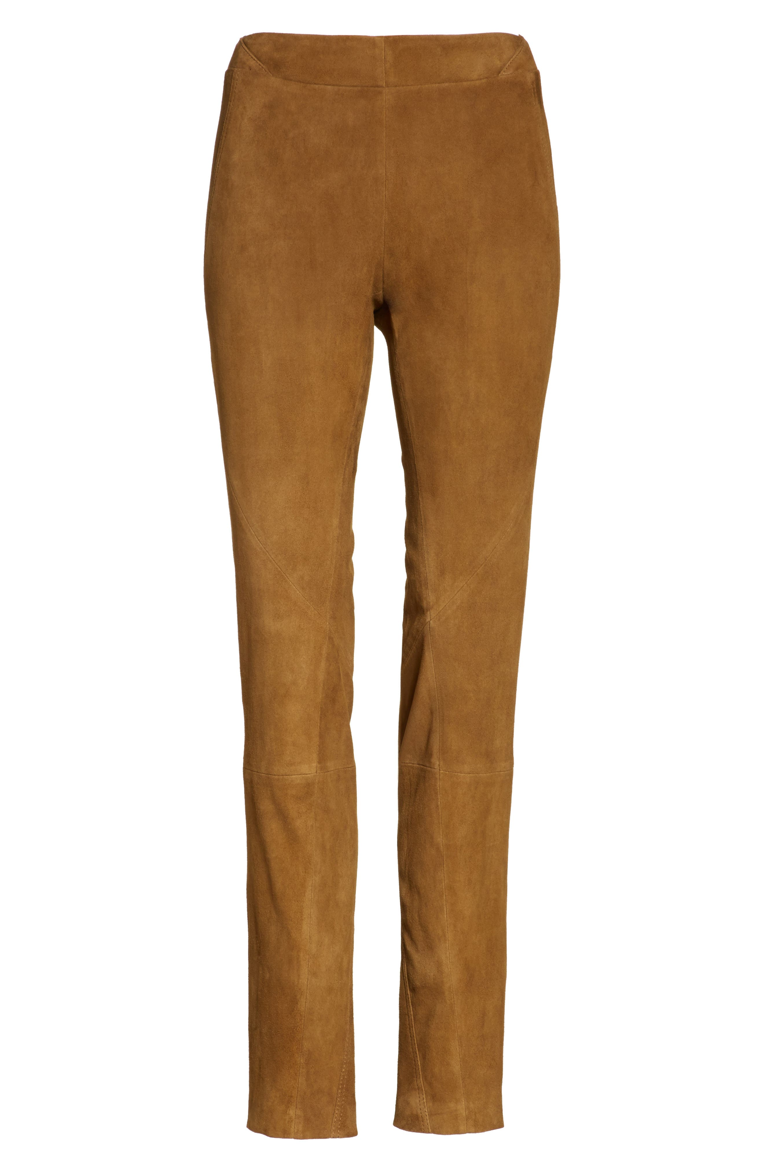 Brooklyn Suede Pants,                             Alternate thumbnail 4, color,                             Sequoia