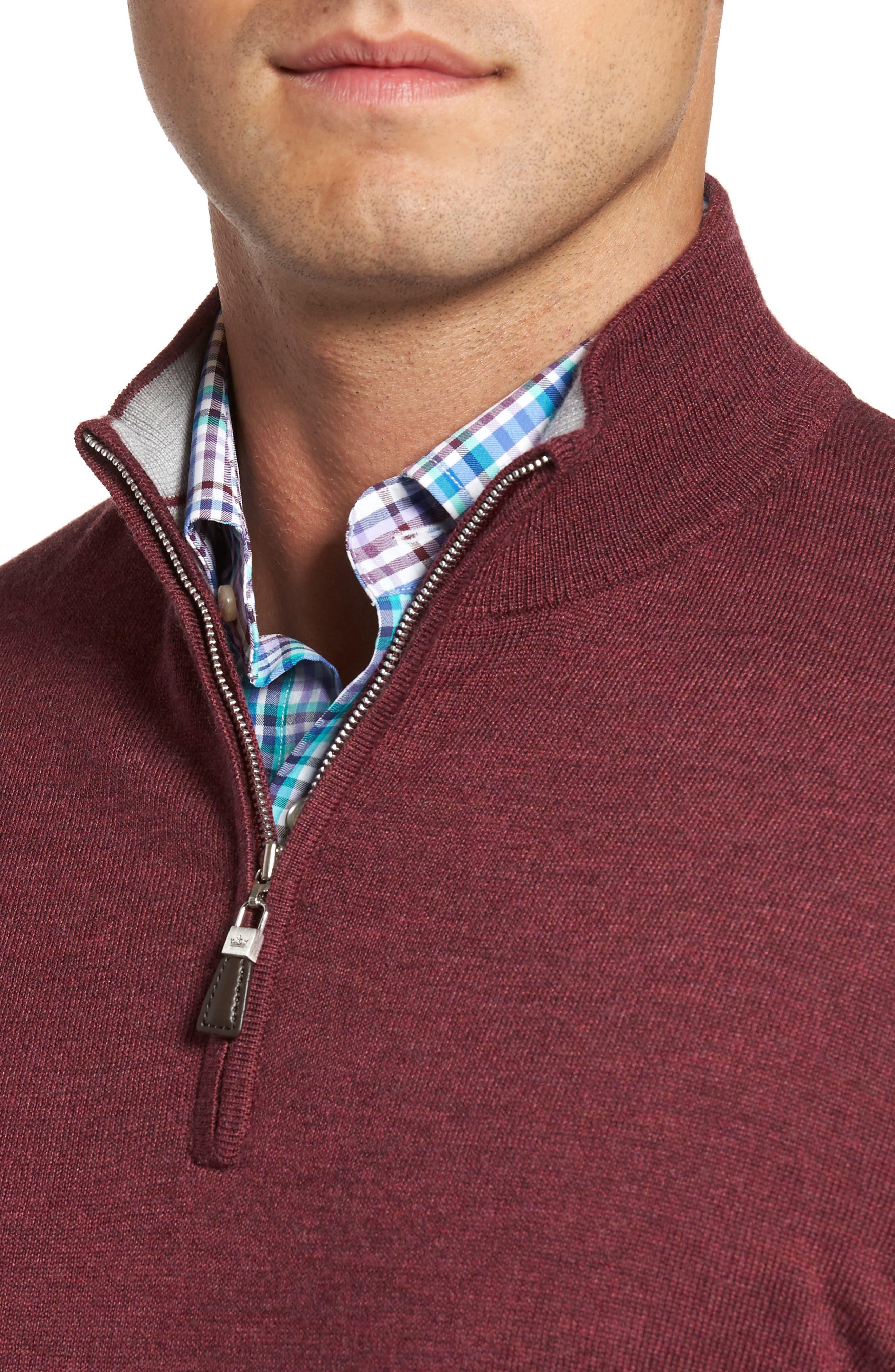 Alternate Image 4  - Peter Millar Crown Soft Merino Blend Quarter Zip Sweater