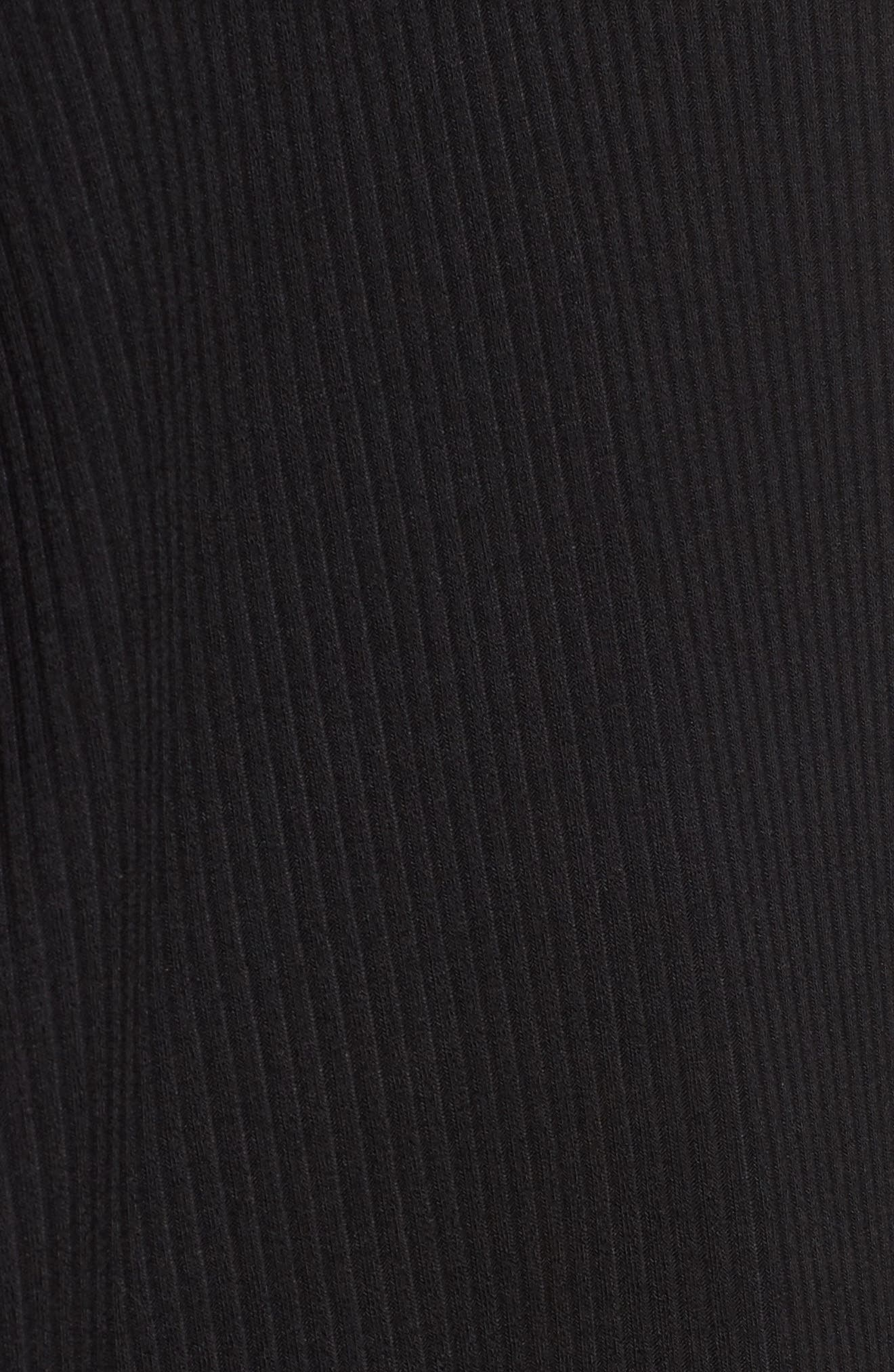 Strappy Swing Dress,                             Alternate thumbnail 5, color,                             Black