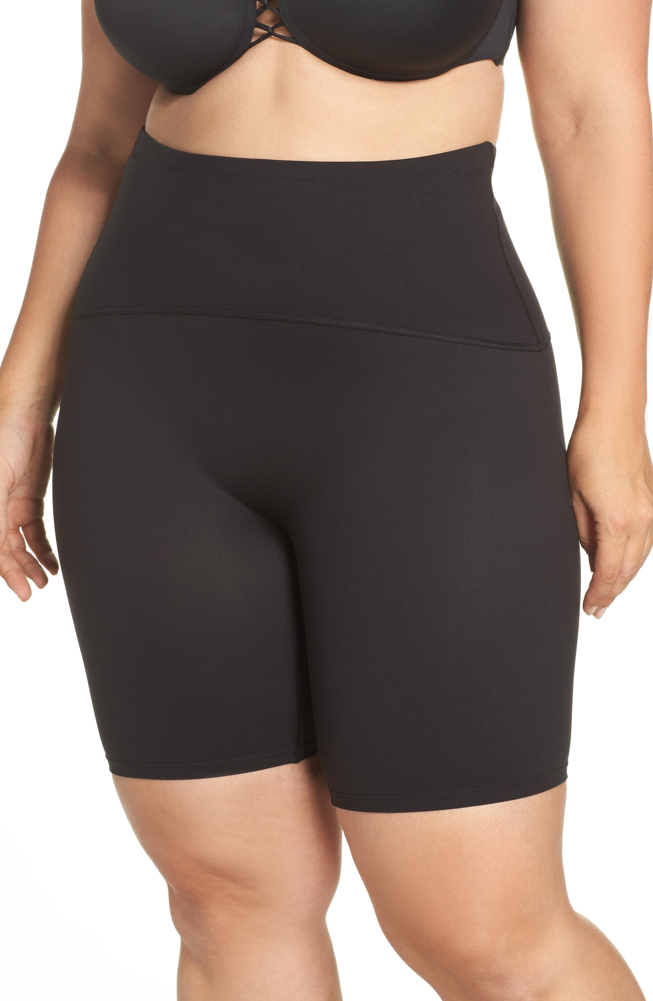 Main Image - SPANX® Sport Compression Shorts (Plus Size)