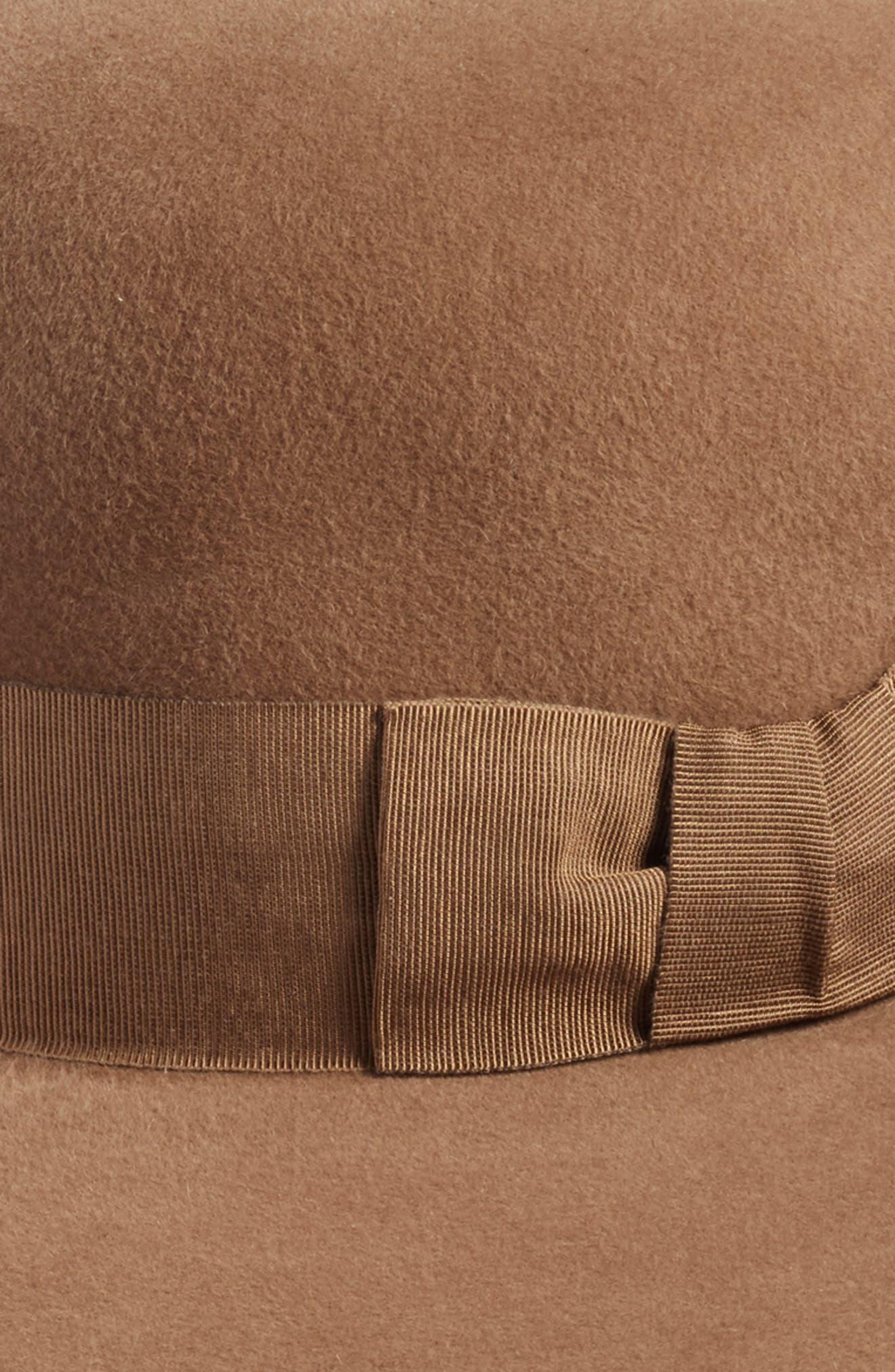 Velour Padre Fur Felt Wide Brim Hat,                             Alternate thumbnail 2, color,                             Camel