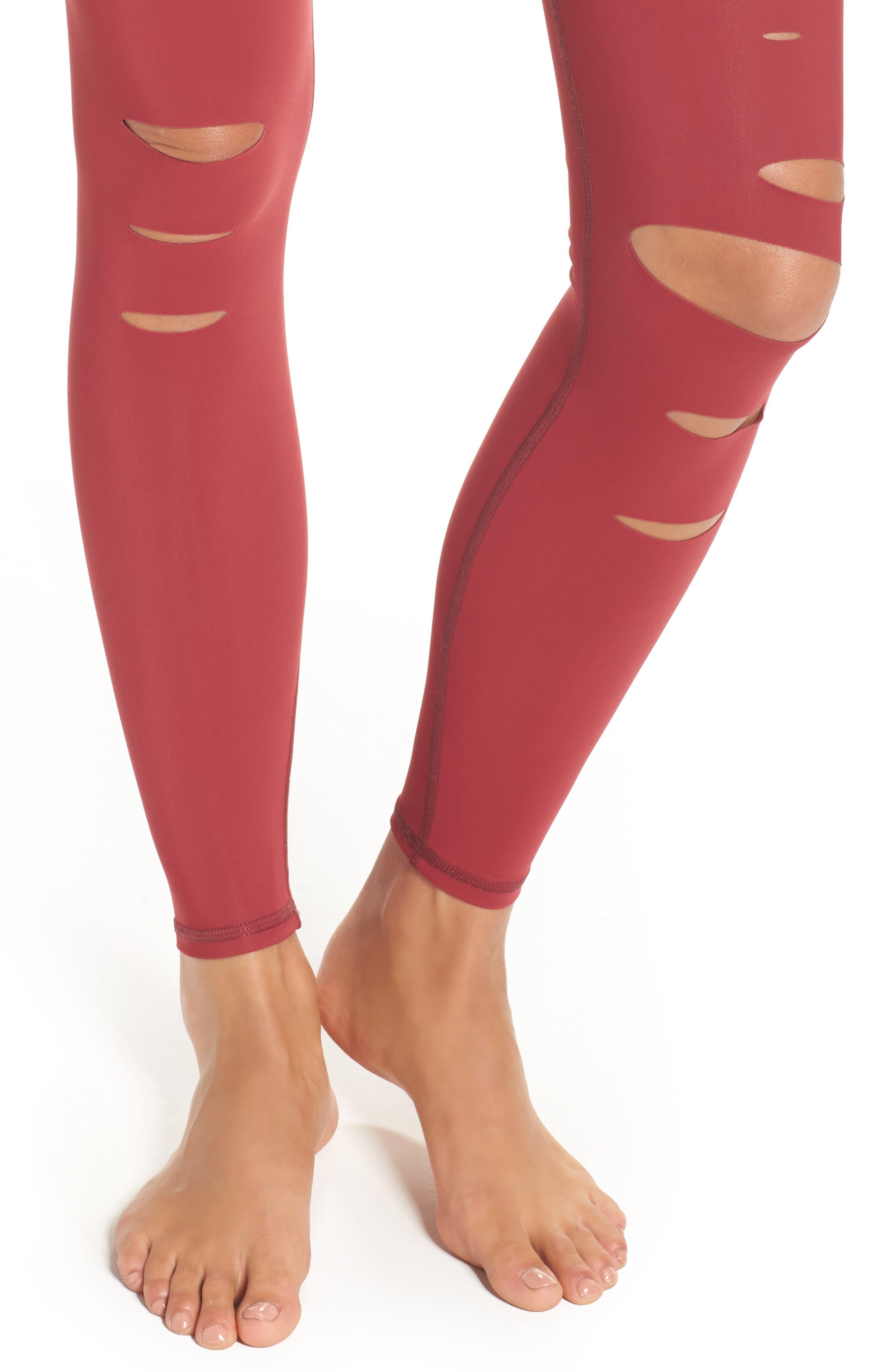 Alternate Image 4  - Alo Ripped Airbrush Leggings