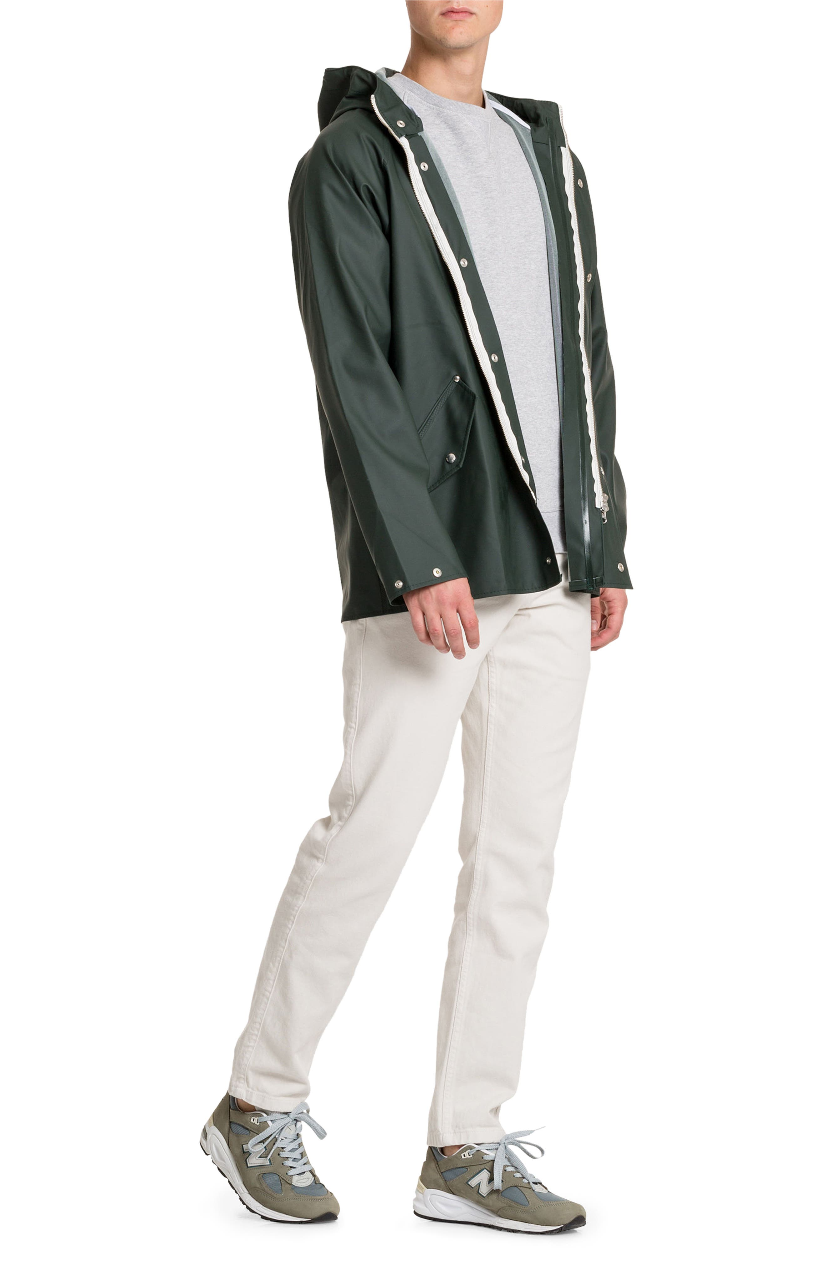 Waterproof Rain Jacket,                             Alternate thumbnail 7, color,                             Moss