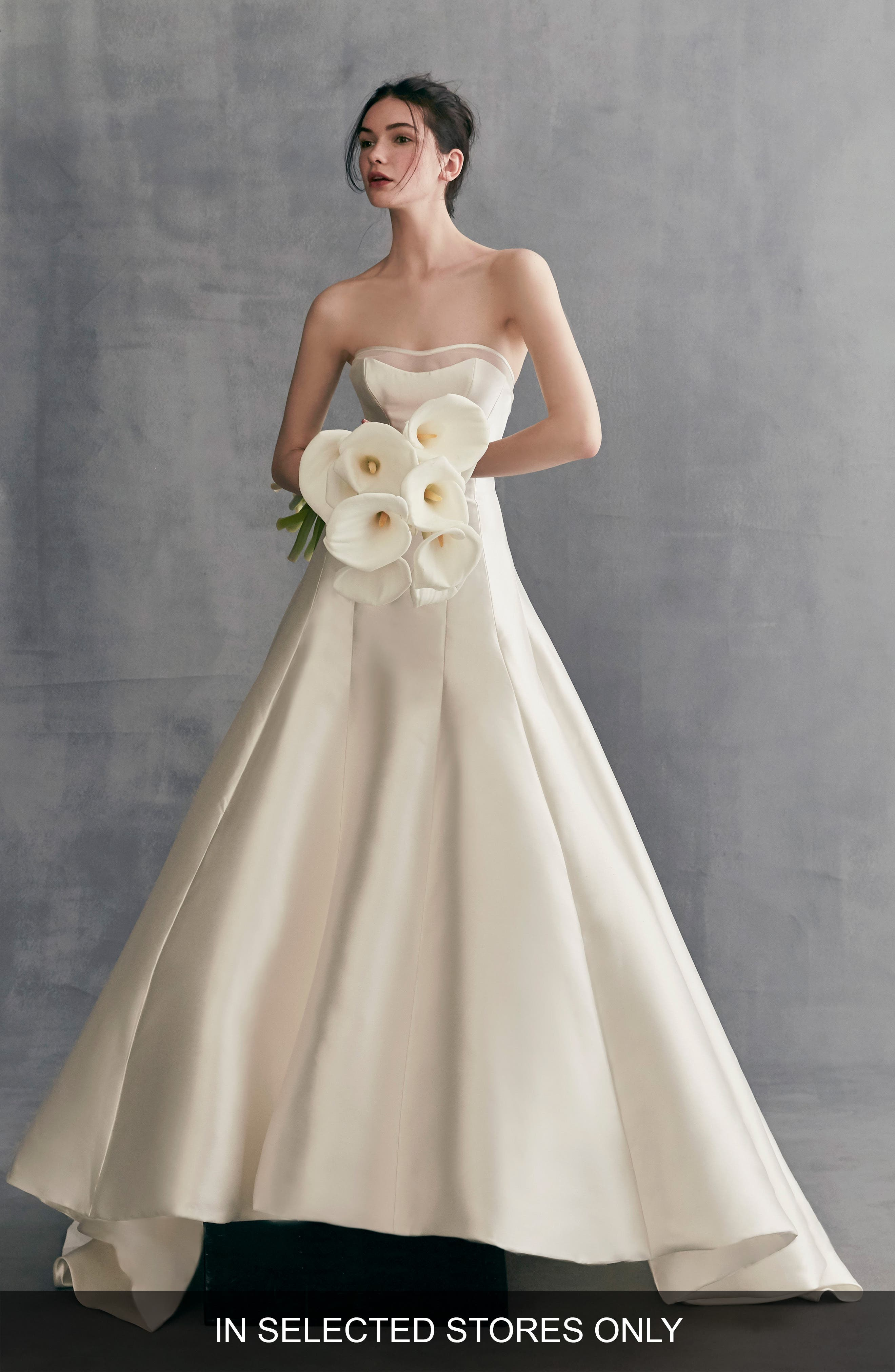 Alternate Image 1 Selected - Ines by Ines Di Santo Lavender Strapless Mikado A-Line Gown