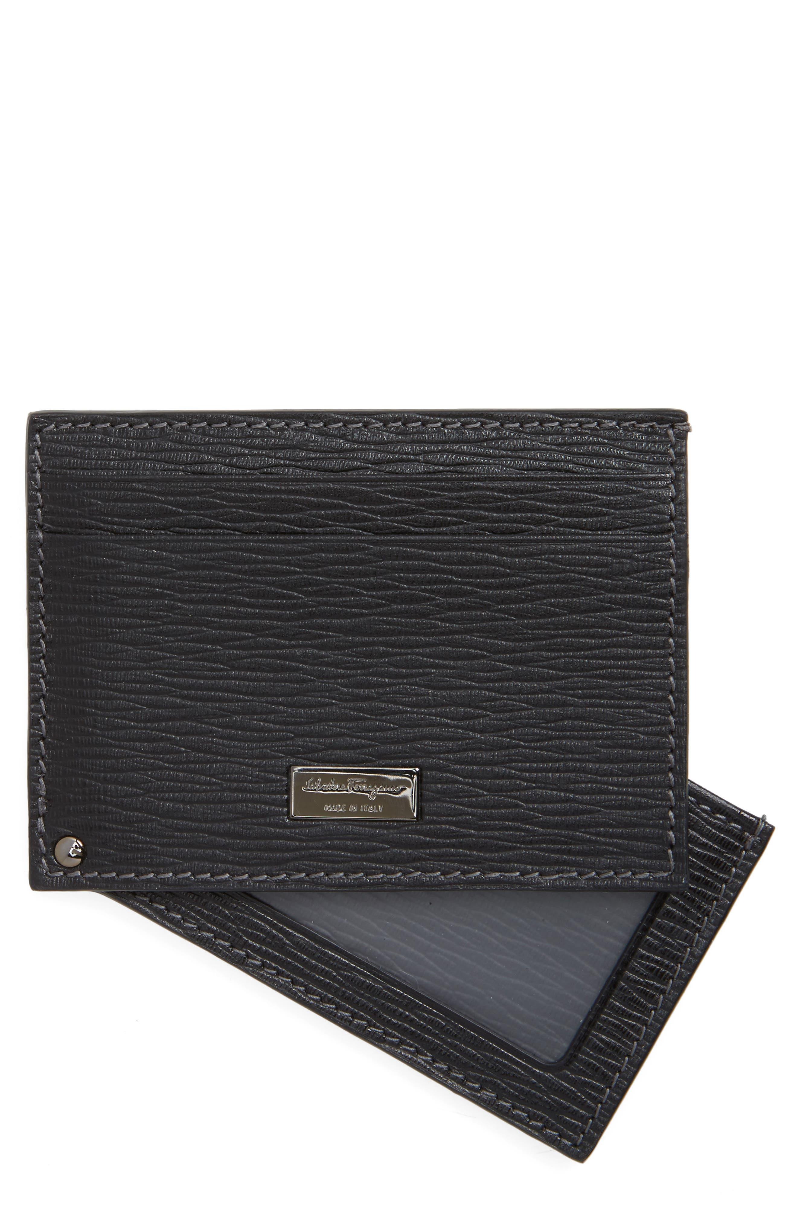 Main Image - Salvatore Ferragamo Leather Card Case