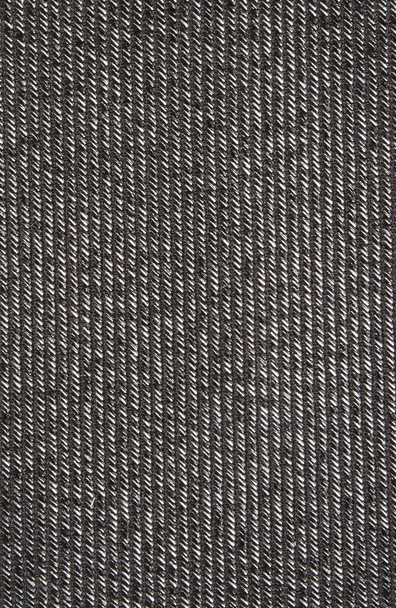 Heathered Solid Silk Tie,                             Alternate thumbnail 2, color,                             Black