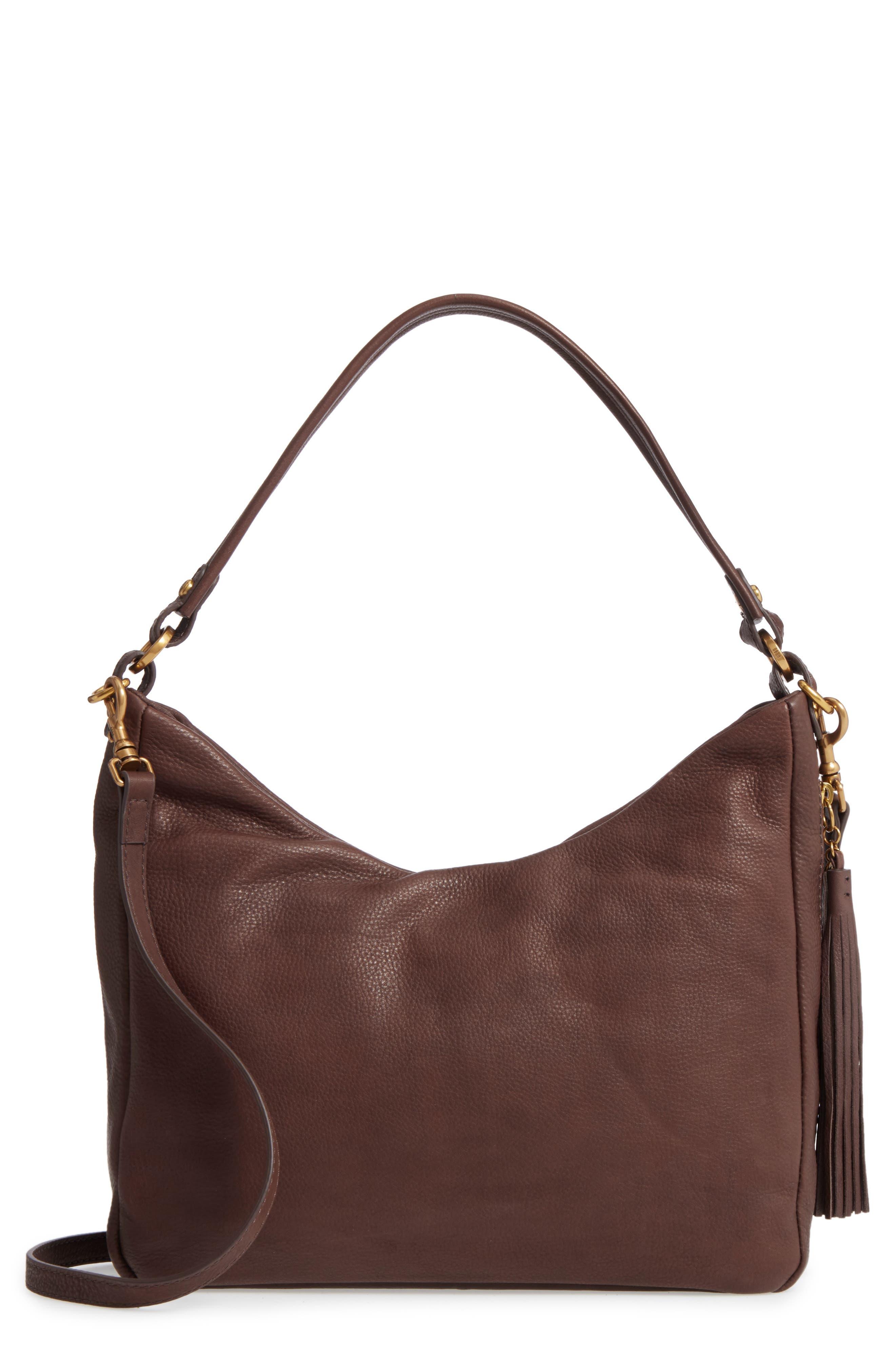HOBO Delilah Convertible Calfskin Leather Hobo Bag