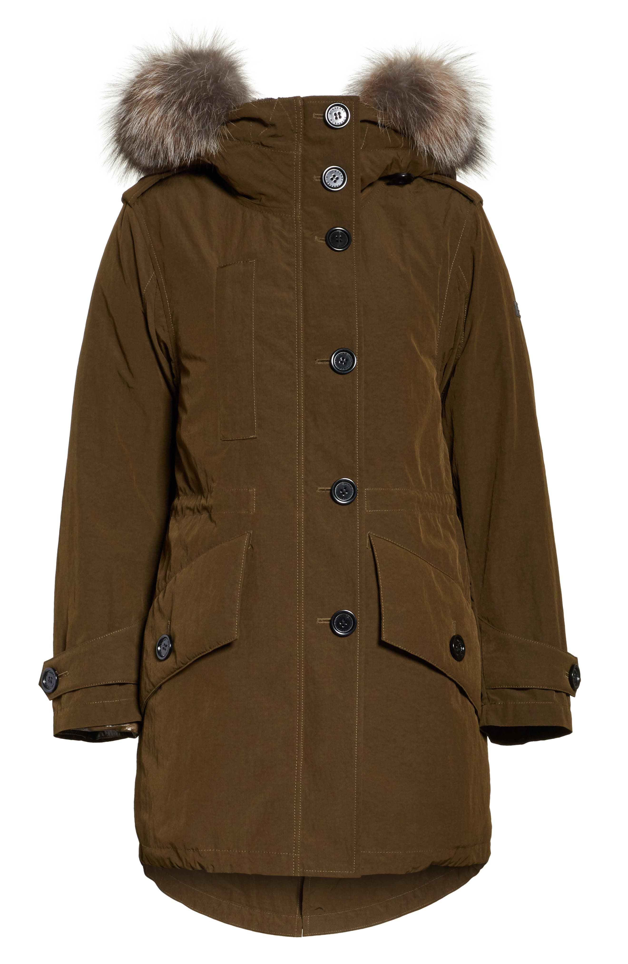 Ramsford 3-in-1 Hooded Parka with Genuine Fox Fur & Genuine Shearling Trim,                             Alternate thumbnail 7, color,                             Dark Olive