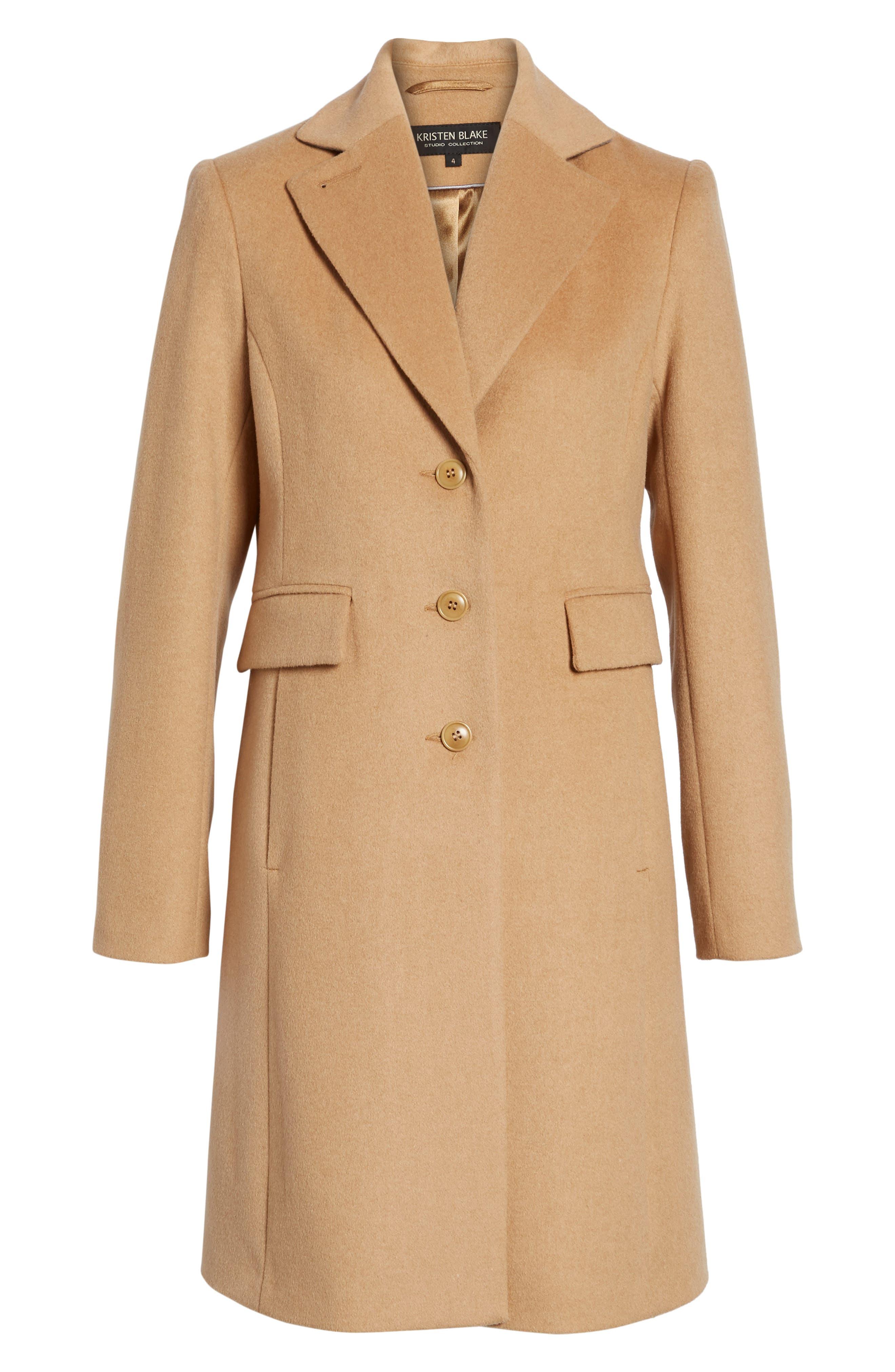 Alternate Image 7  - Kristen Blake Walking Coat (Regular & Petite)