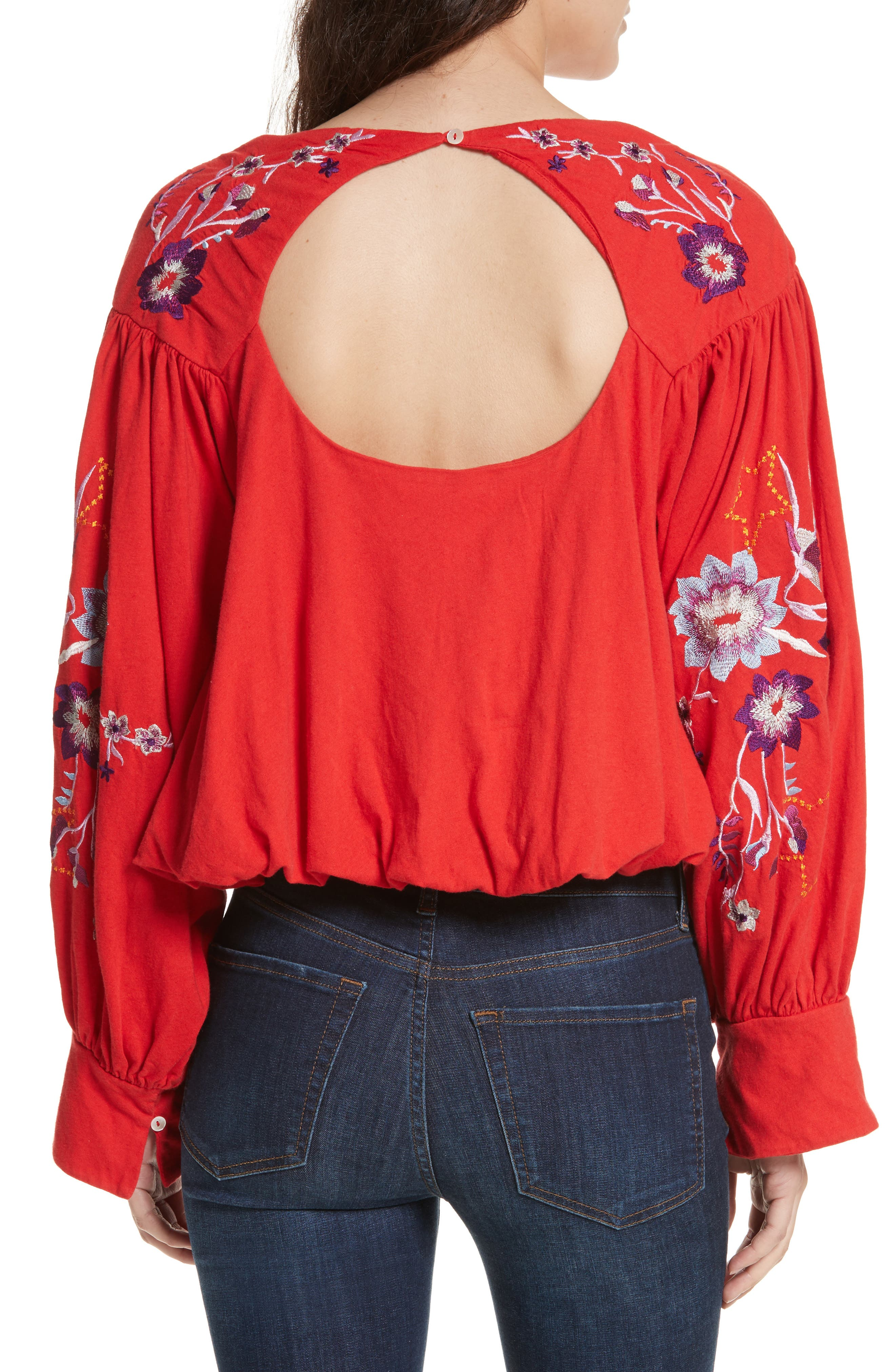 Alternate Image 2  - Free People Lita Embroidered Bell Sleeve Top