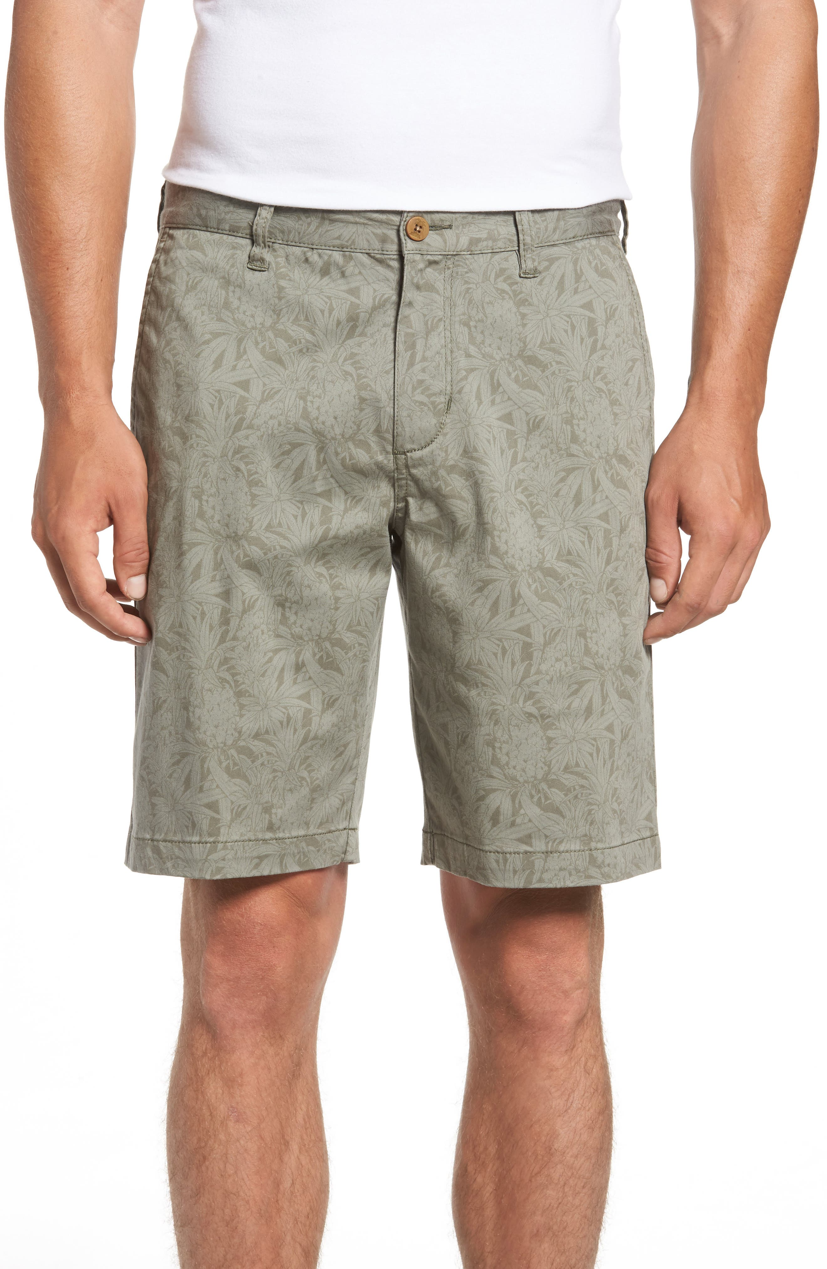 Camo Tropic Standard Fit Chino Shorts,                             Main thumbnail 1, color,                             Dusty Olive