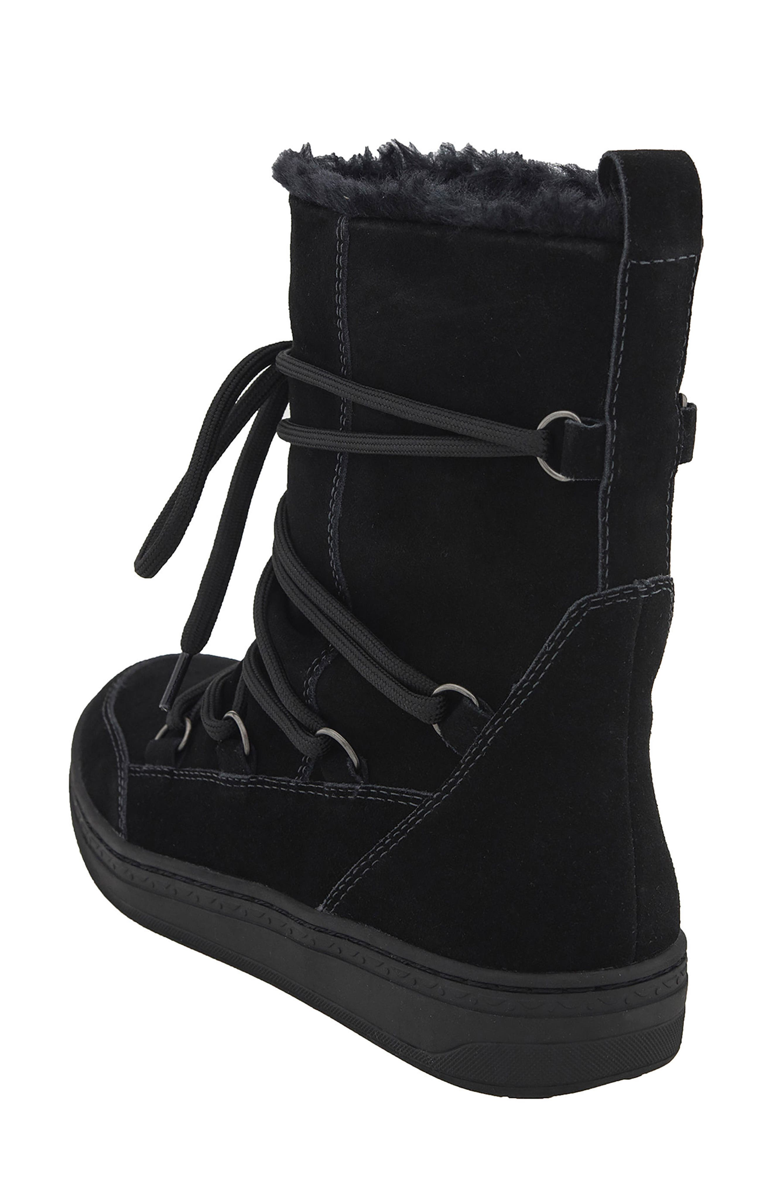 Zodiac Water Resistant Boot,                             Alternate thumbnail 2, color,                             Black Suede