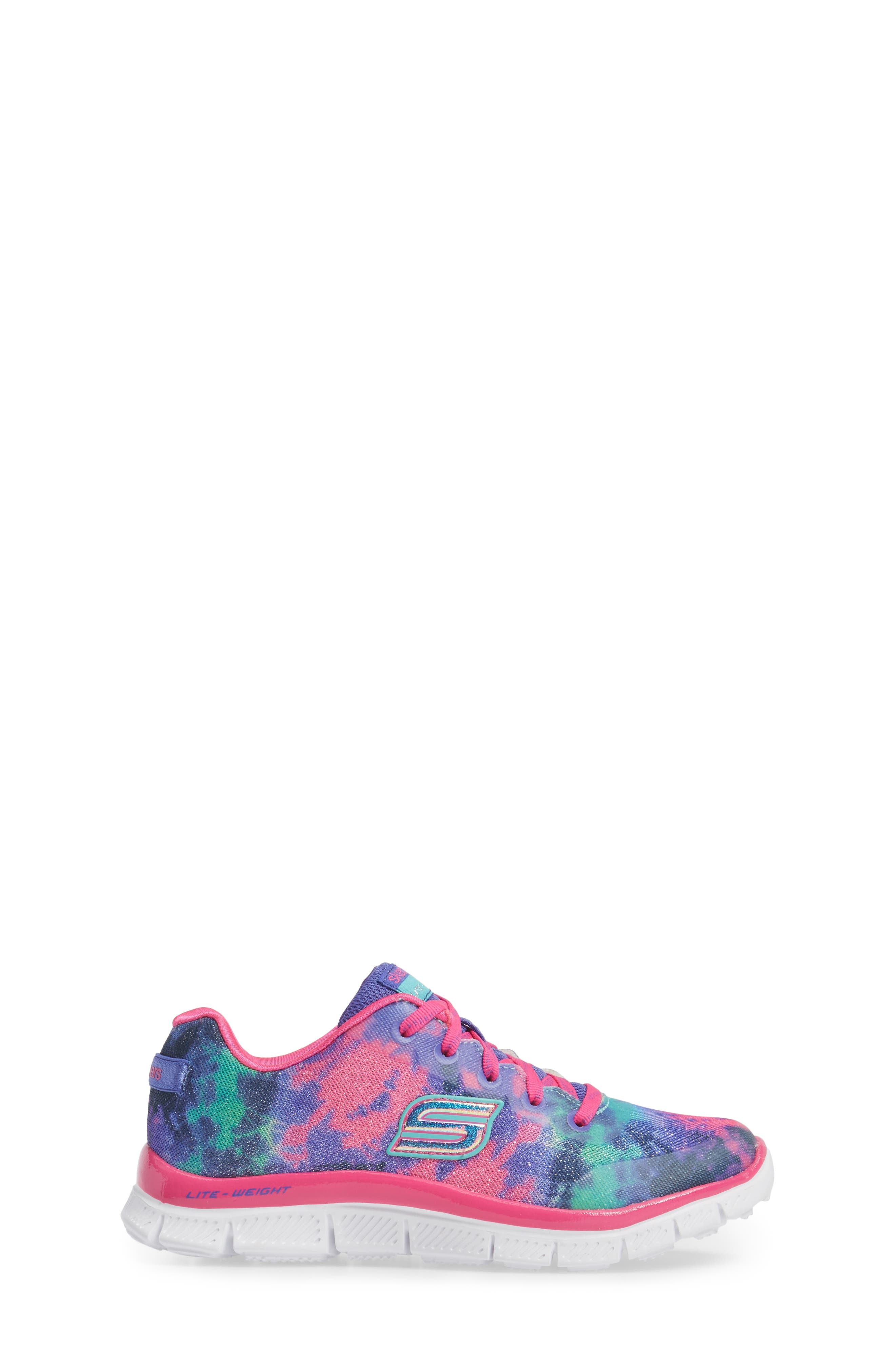 Skech Appeal Groove Thang Sneaker,                             Alternate thumbnail 3, color,                             Neon Pink/ Multi