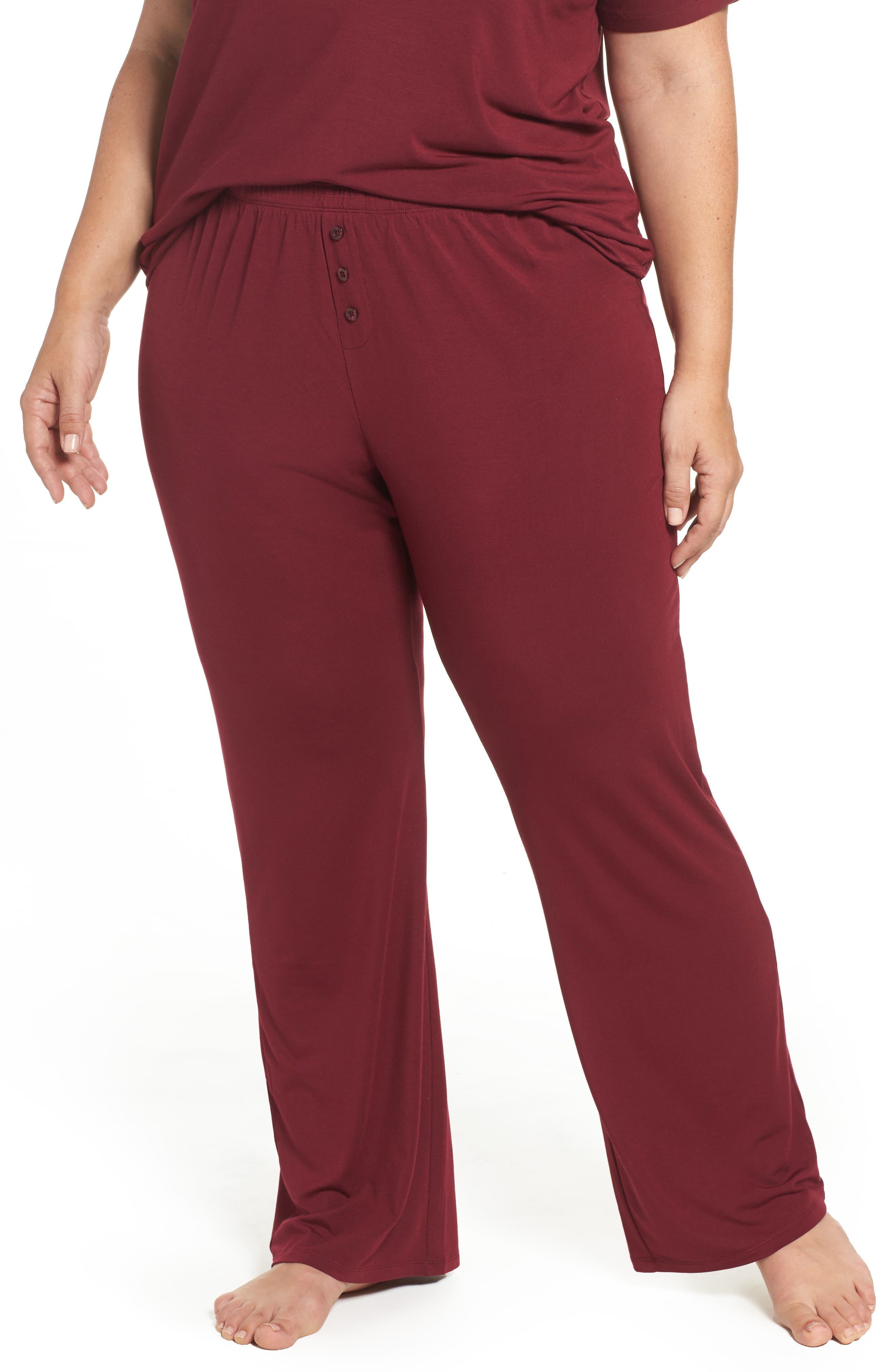 Lounge Pants,                         Main,                         color, Burgundy