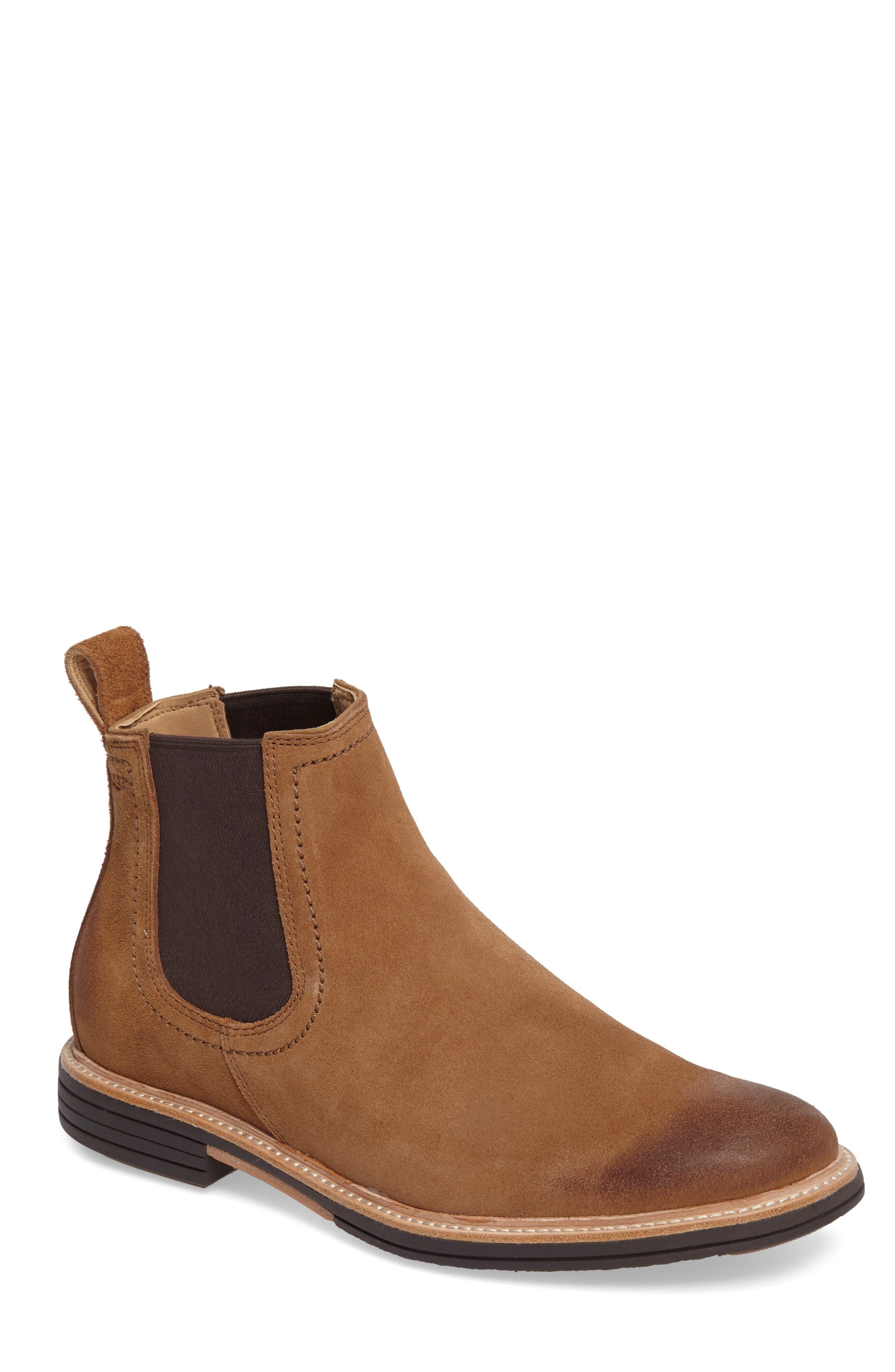 Baldvin Chelsea Boot,                         Main,                         color, Chestnut