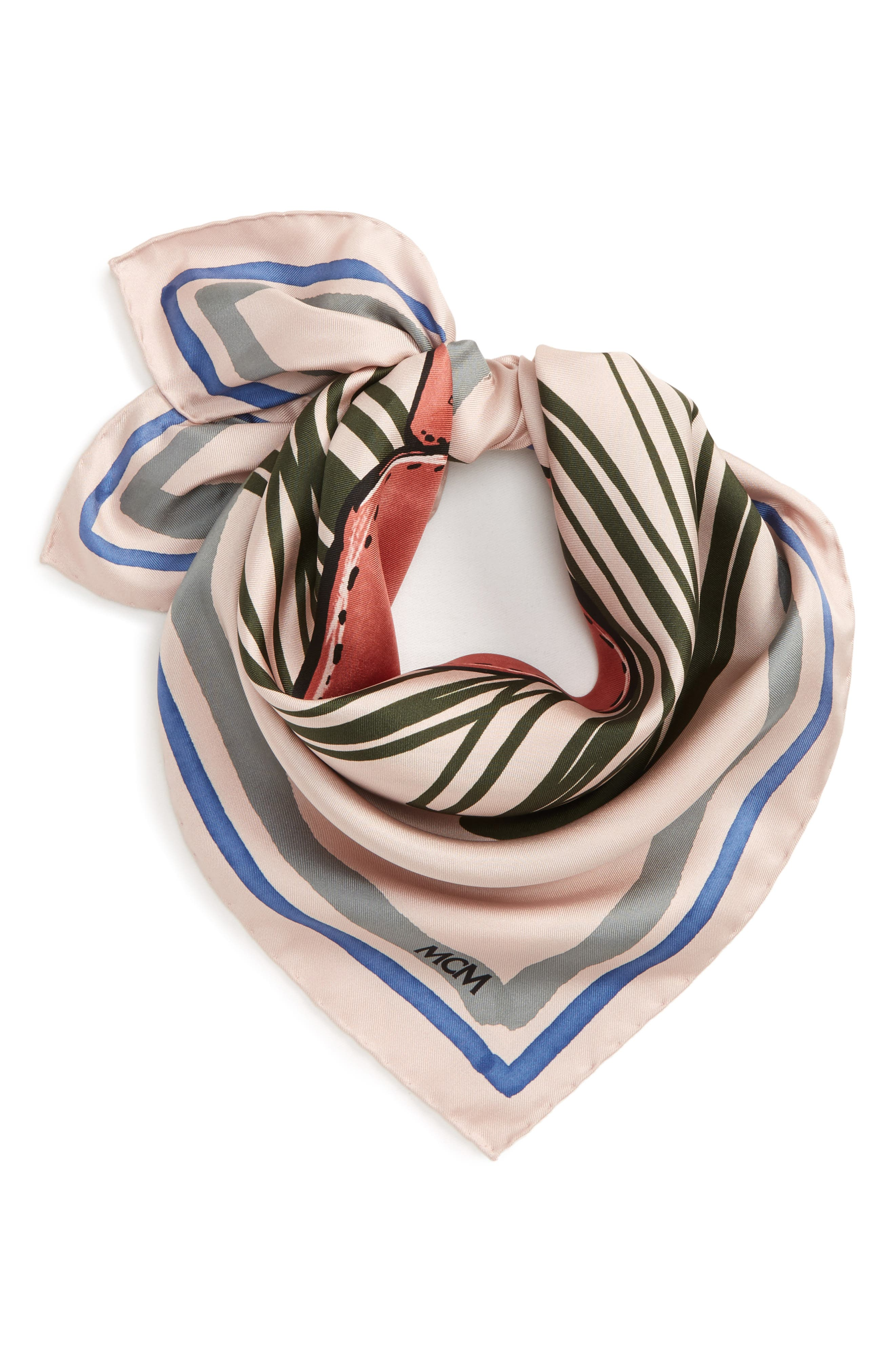 Handbag Print Square Silk Scarf,                             Alternate thumbnail 2, color,                             Dark Pink/ Mauve