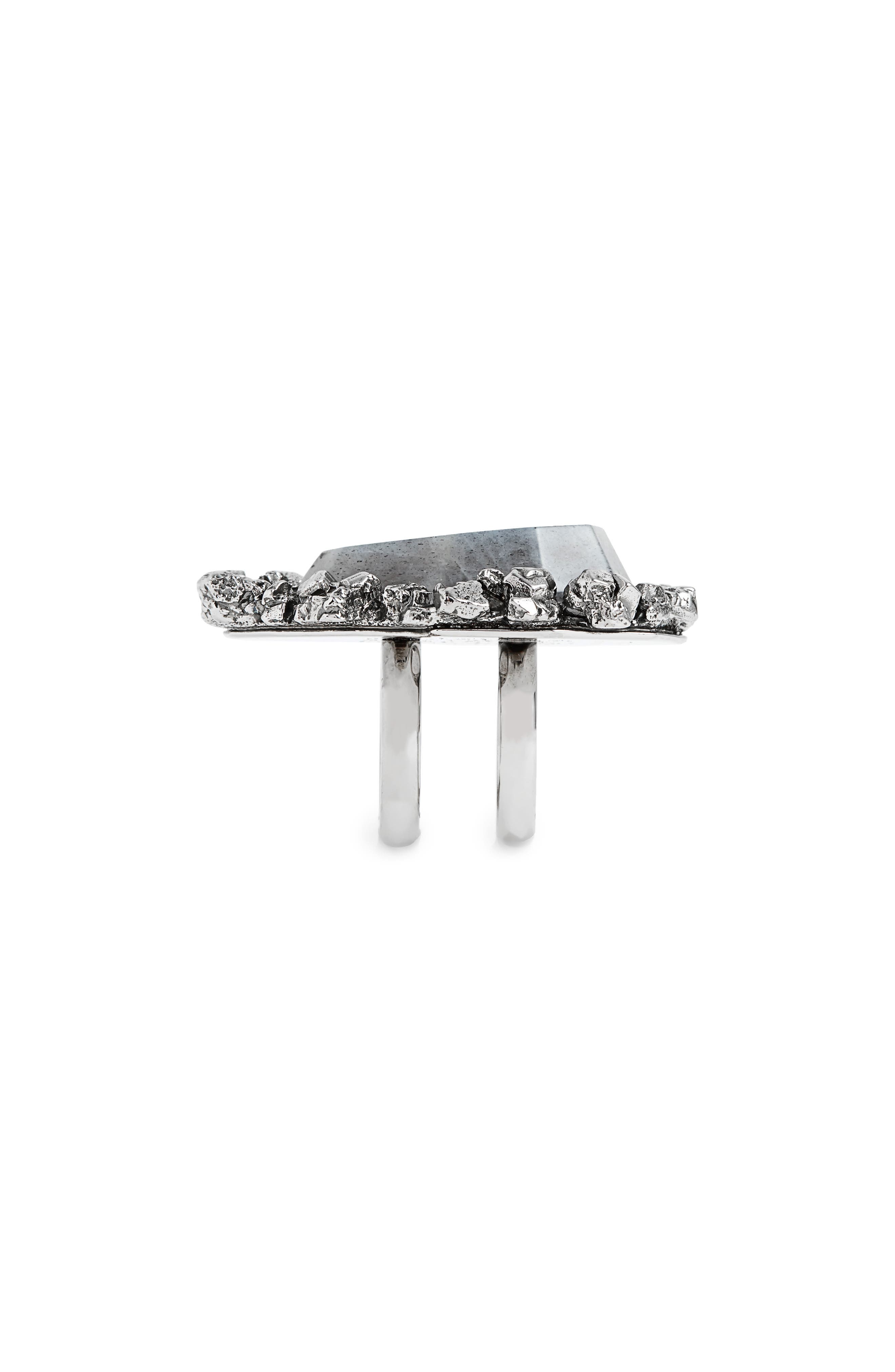 Alternate Image 2  - Alexander McQueen Labradorite Ring