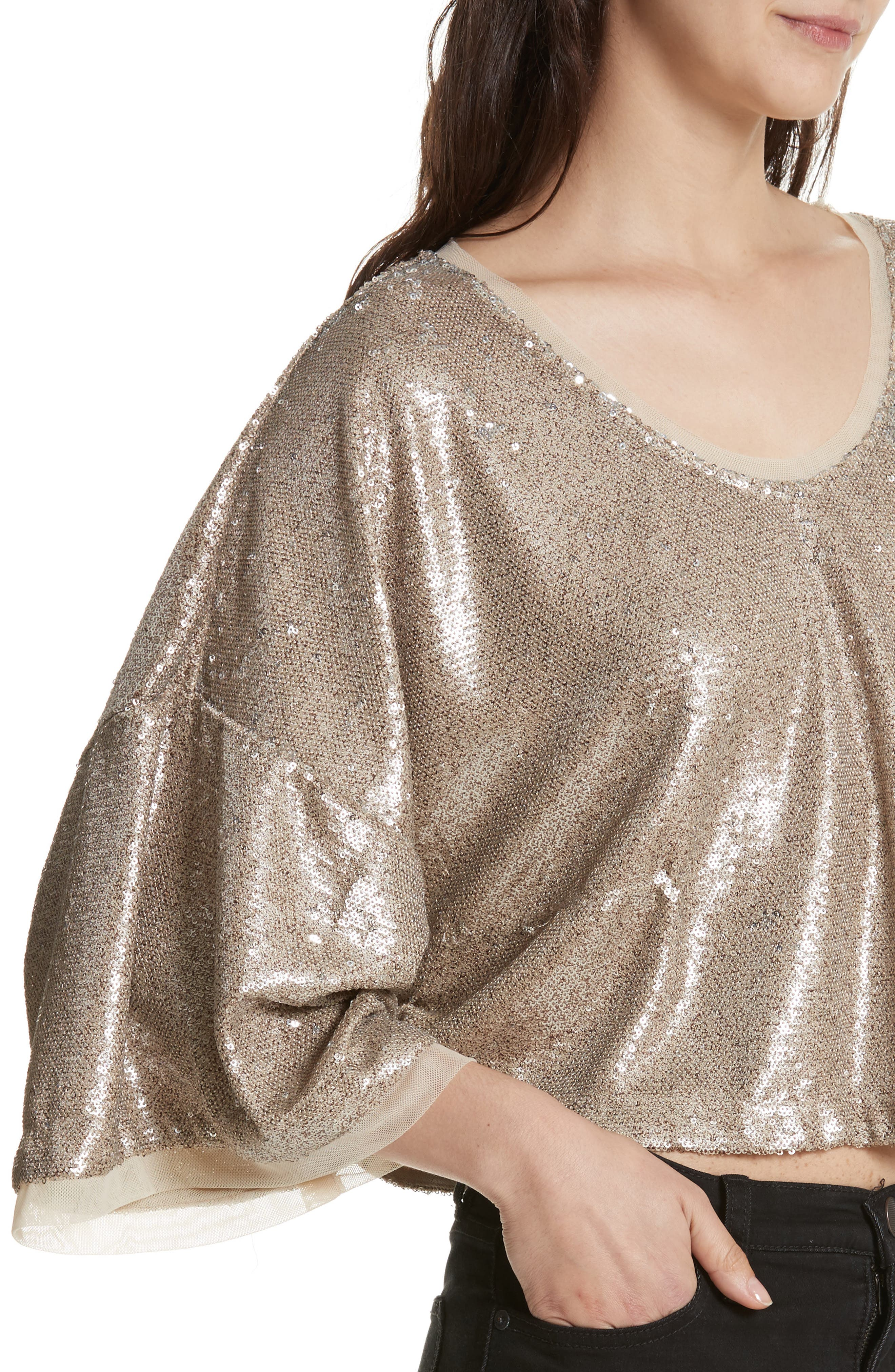 Alternate Image 4  - Free People Champagne Dreams Top