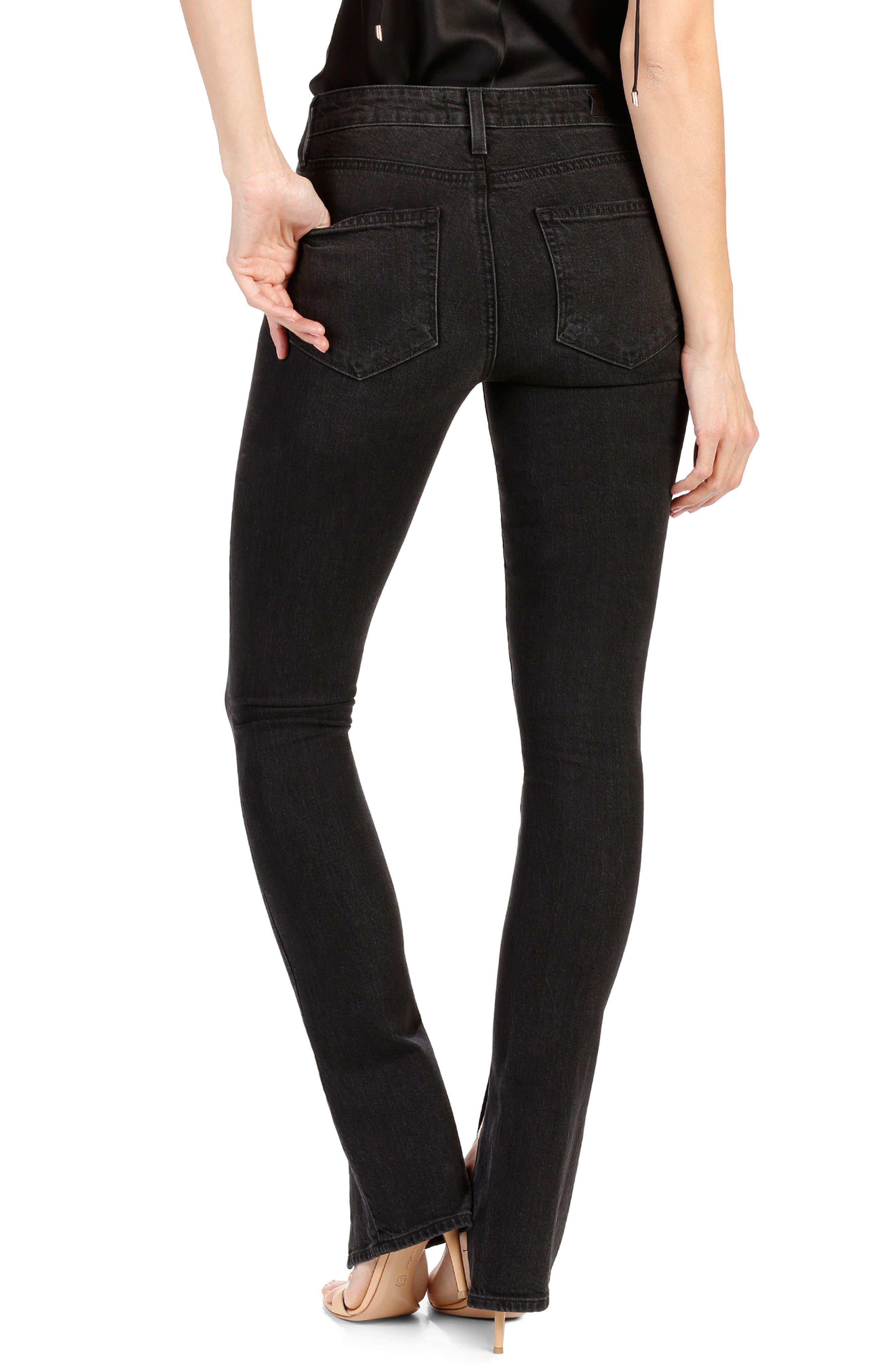 Rosie HW x PAIGE Constance Skinny Jeans,                             Alternate thumbnail 3, color,                             Vintage Noir
